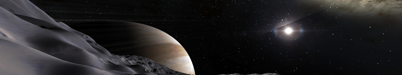 Space Engine Planet Stars Triple Screen Cgi Space Art Wallpaper Resolution 5760x1080 Id 2178 Wallha Com