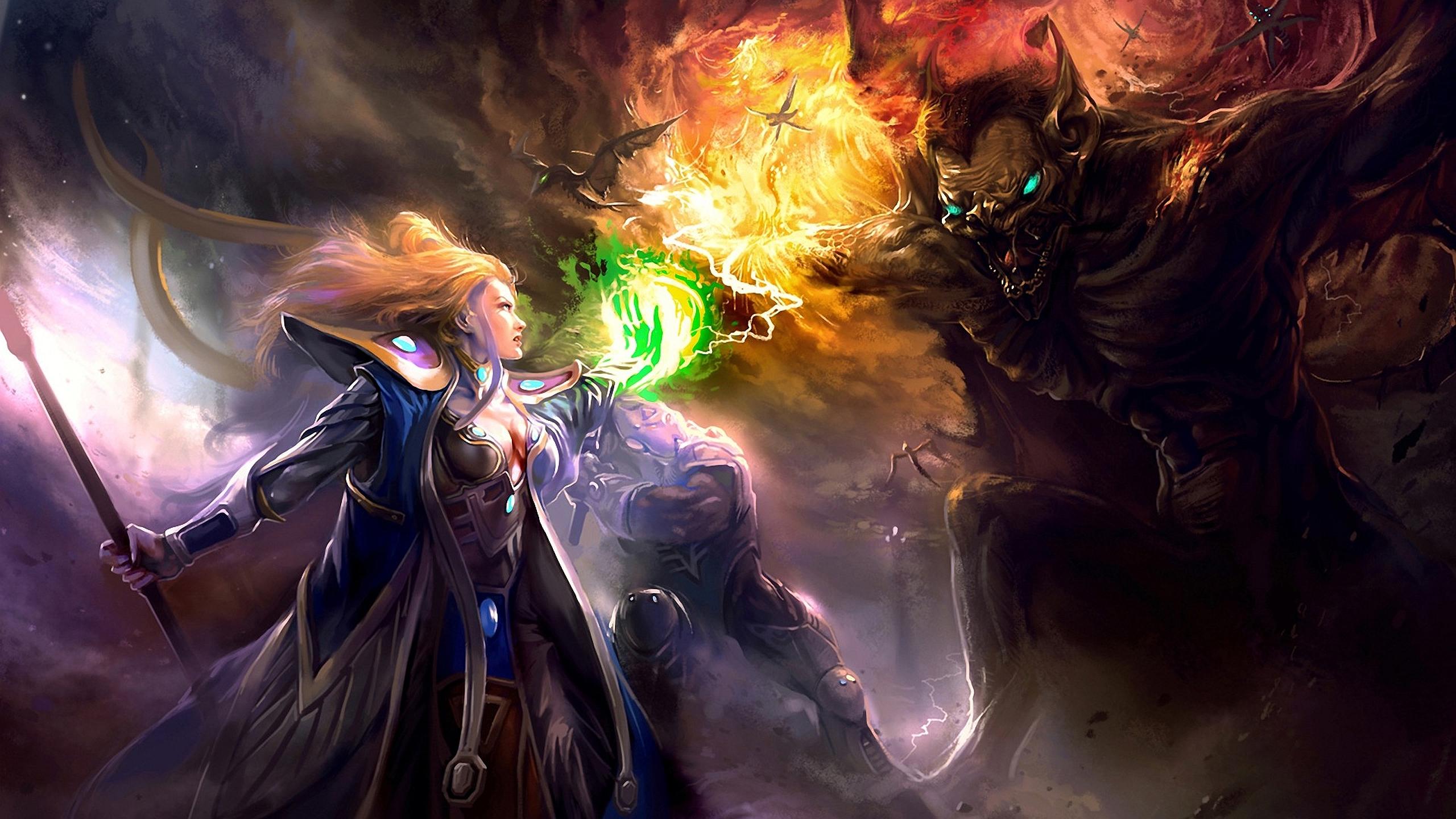 Fantasy Women Warrior 2560x1440