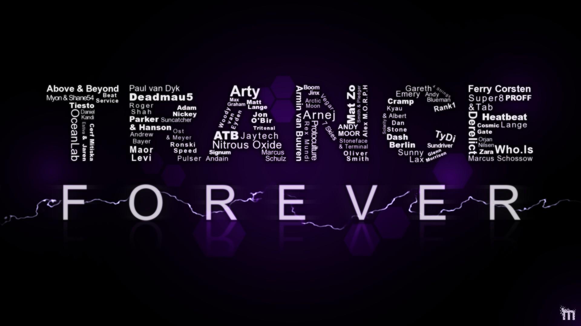 Typography Music Trance 1920x1080