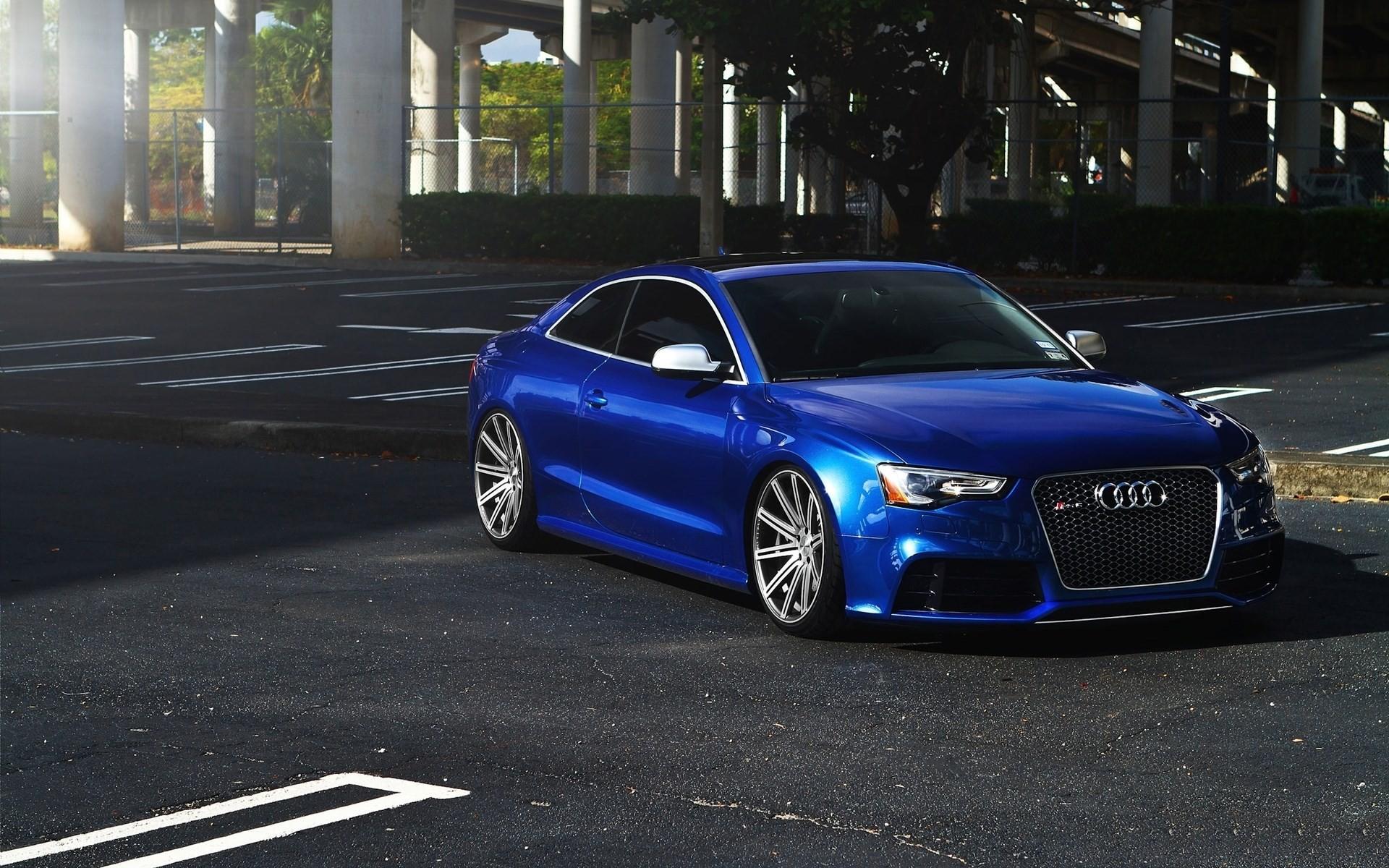Audi Blue Audi Rs5 Rims Stance Car Vehicle Blue Cars Urban Wallpaper Resolution 1920x1200 Id 5650 Wallha Com