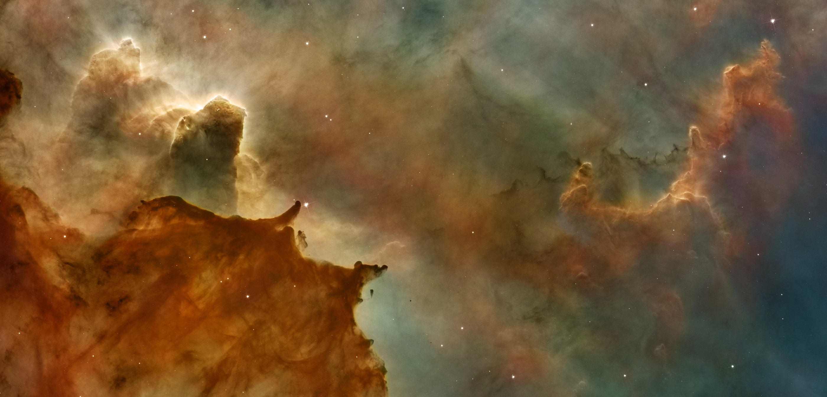 Nebula Carina Nebula Space Sci Fi 2800x1346