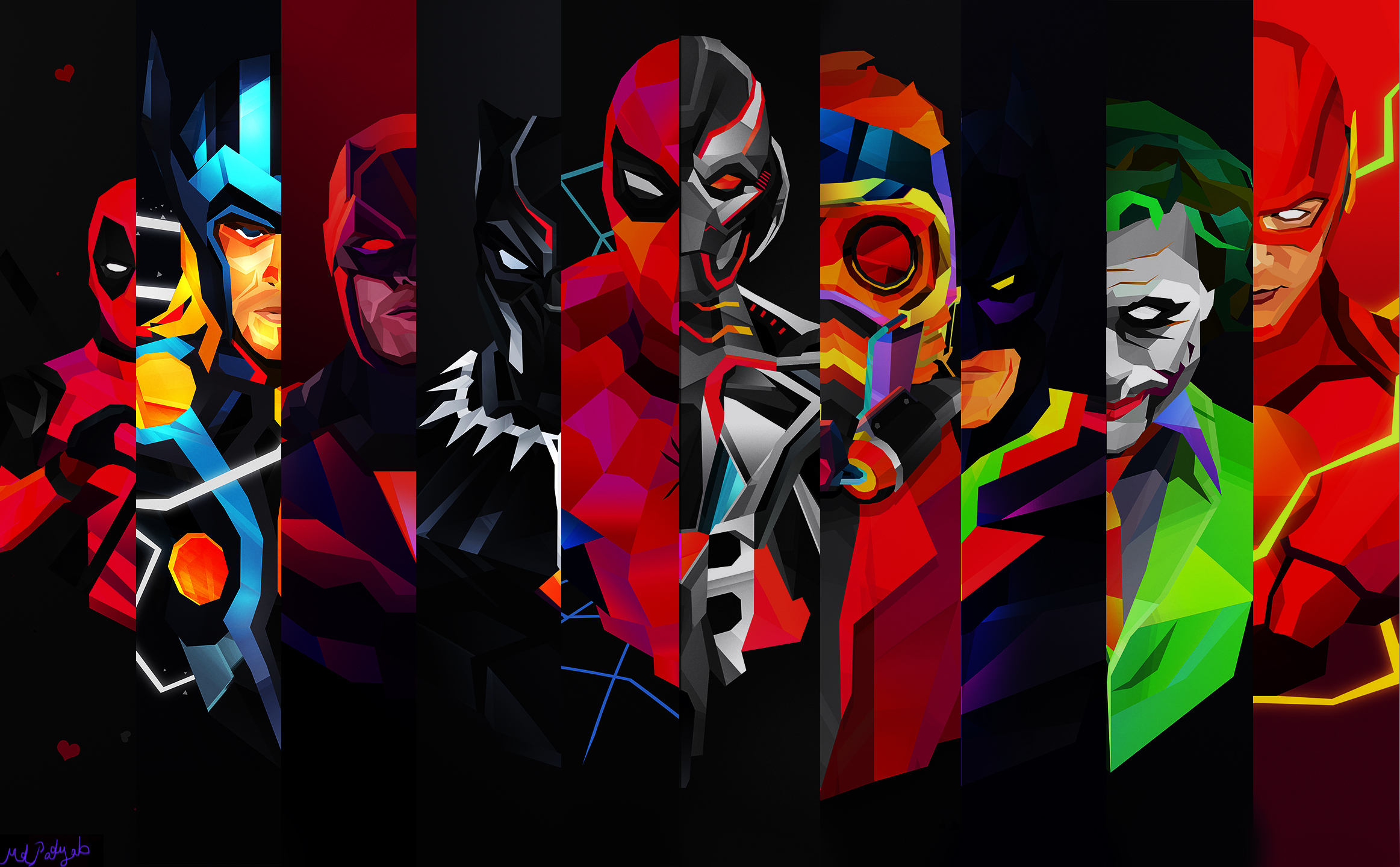 Flash Joker Batman Spider Man Thor Star Lord Black Panther Marvel Comics Deadpool Daredevil Ultron Wallpaper Resolution 2325x1440 Id 68626 Wallha Com