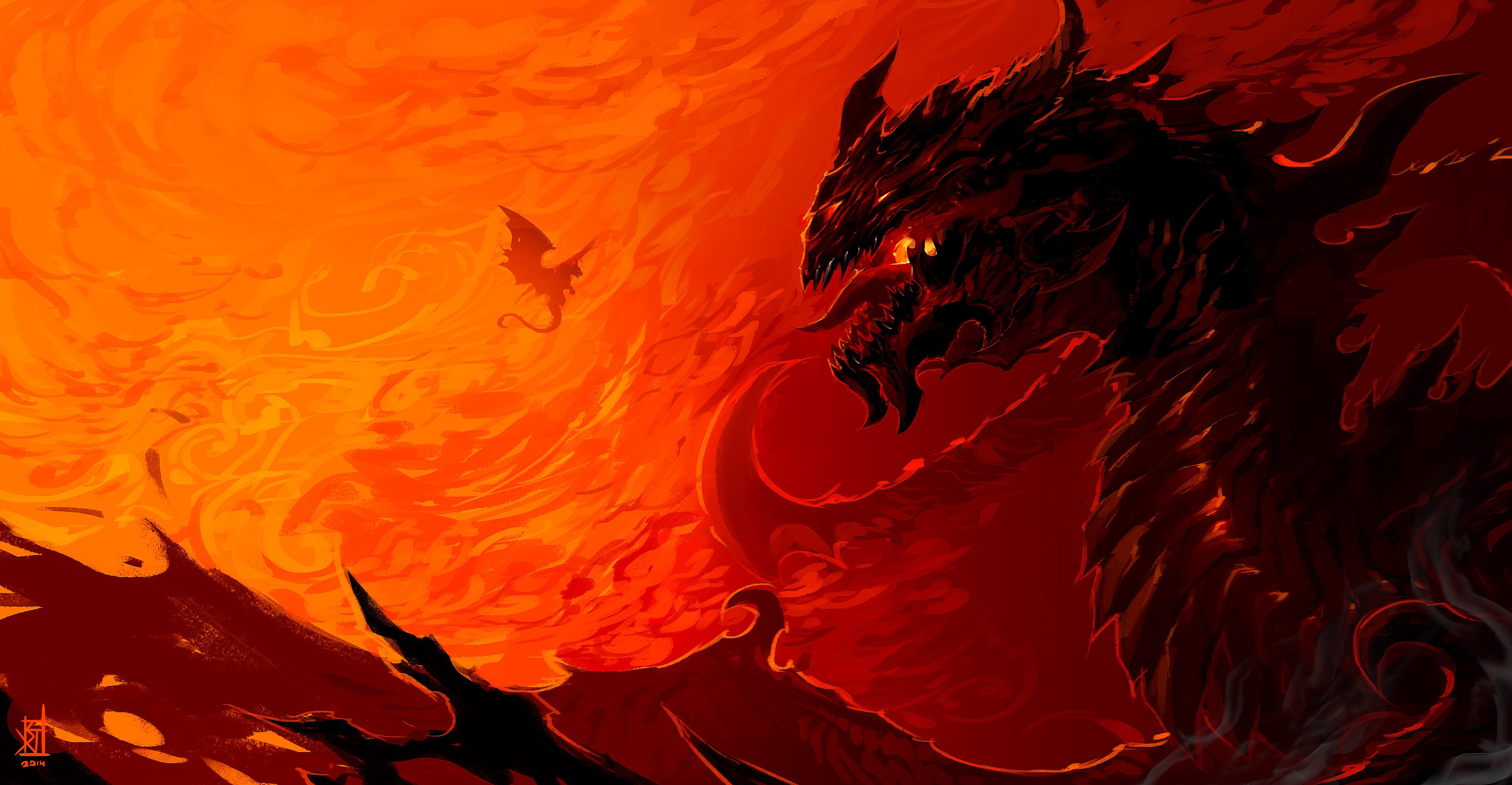 Dragon Red 4904x2547