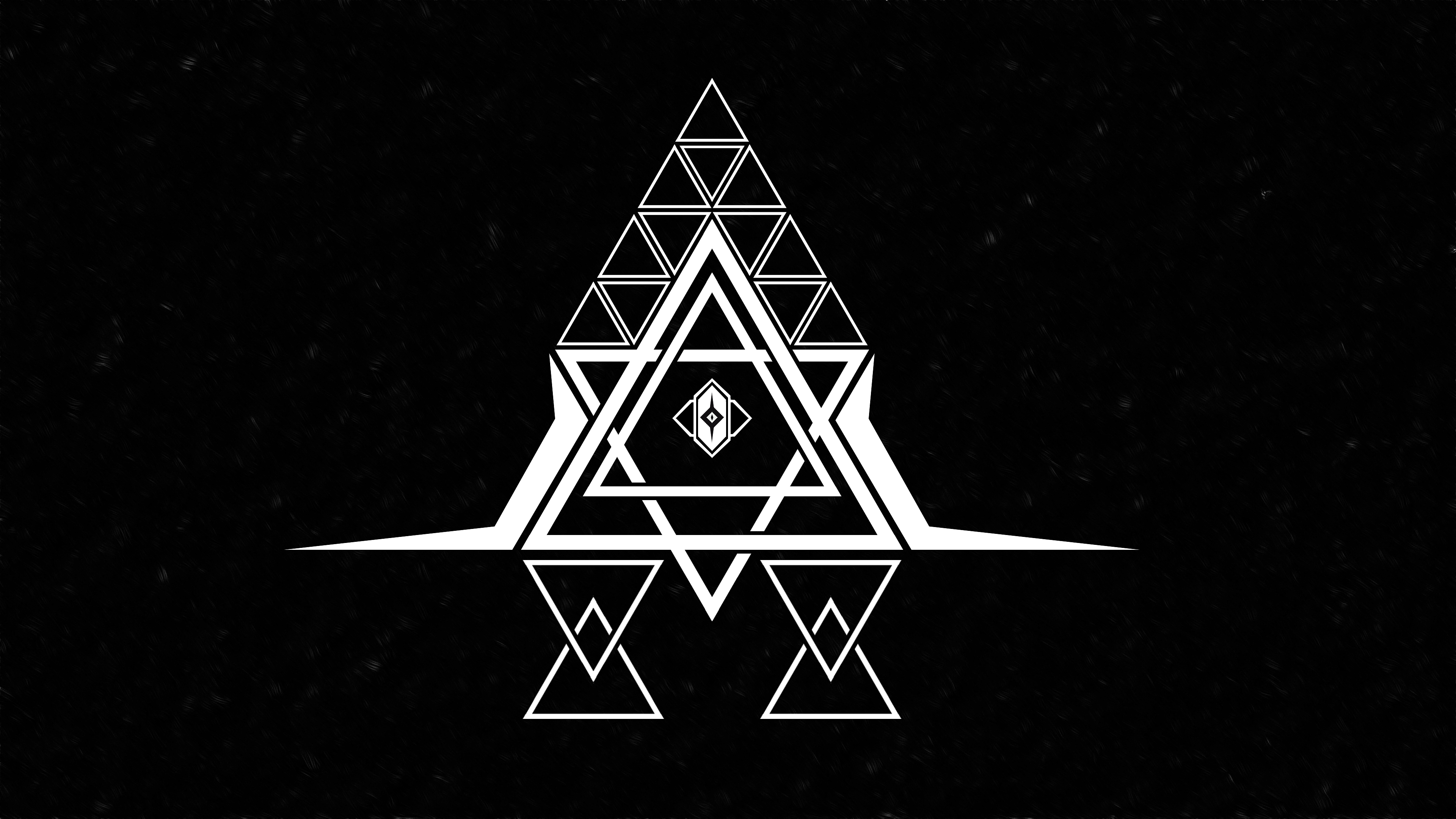 Typography Abstract Graphic Design Illuminati The All Seeing Eye Trap Music Trance Floating Particle 3840x2160