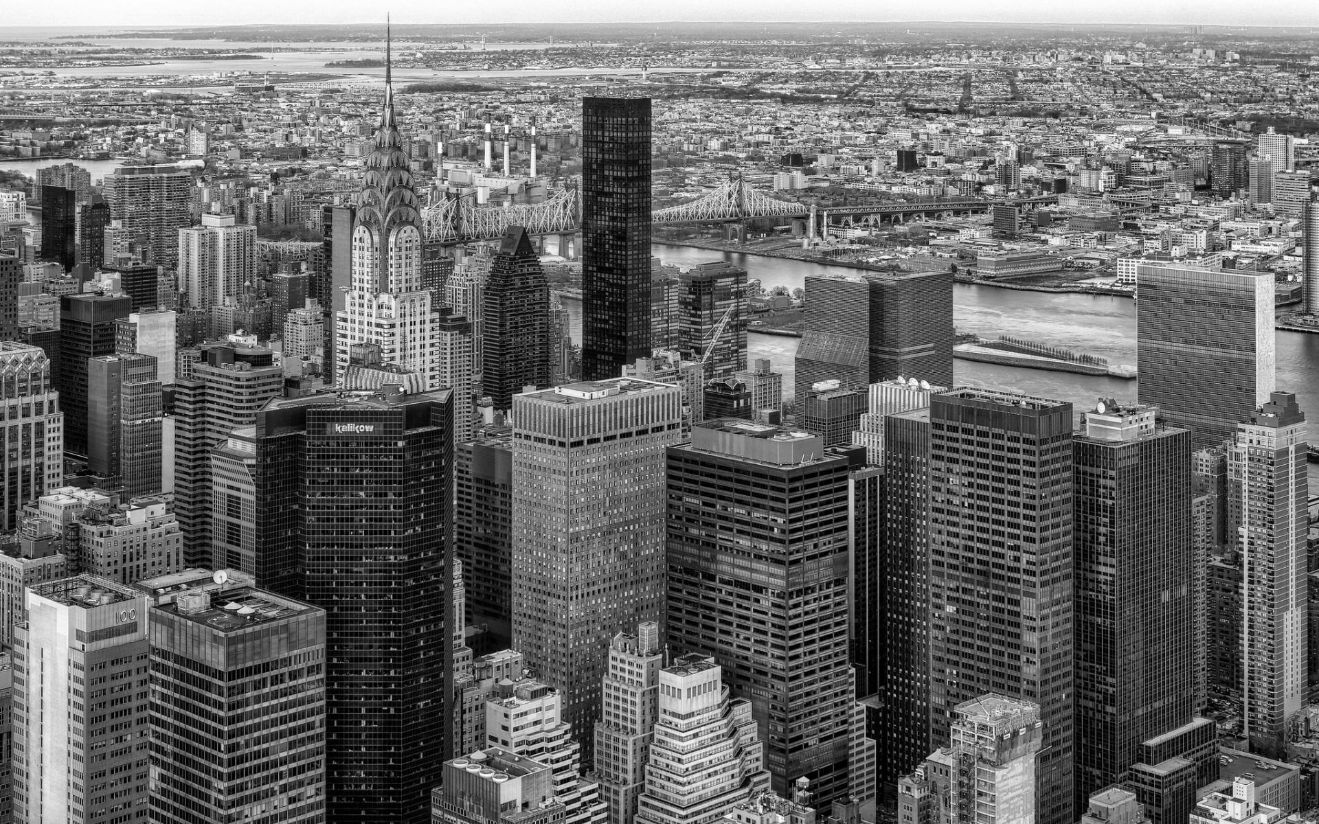 Black Amp White Manhattan New York Queensboro Bridge 1920x1200