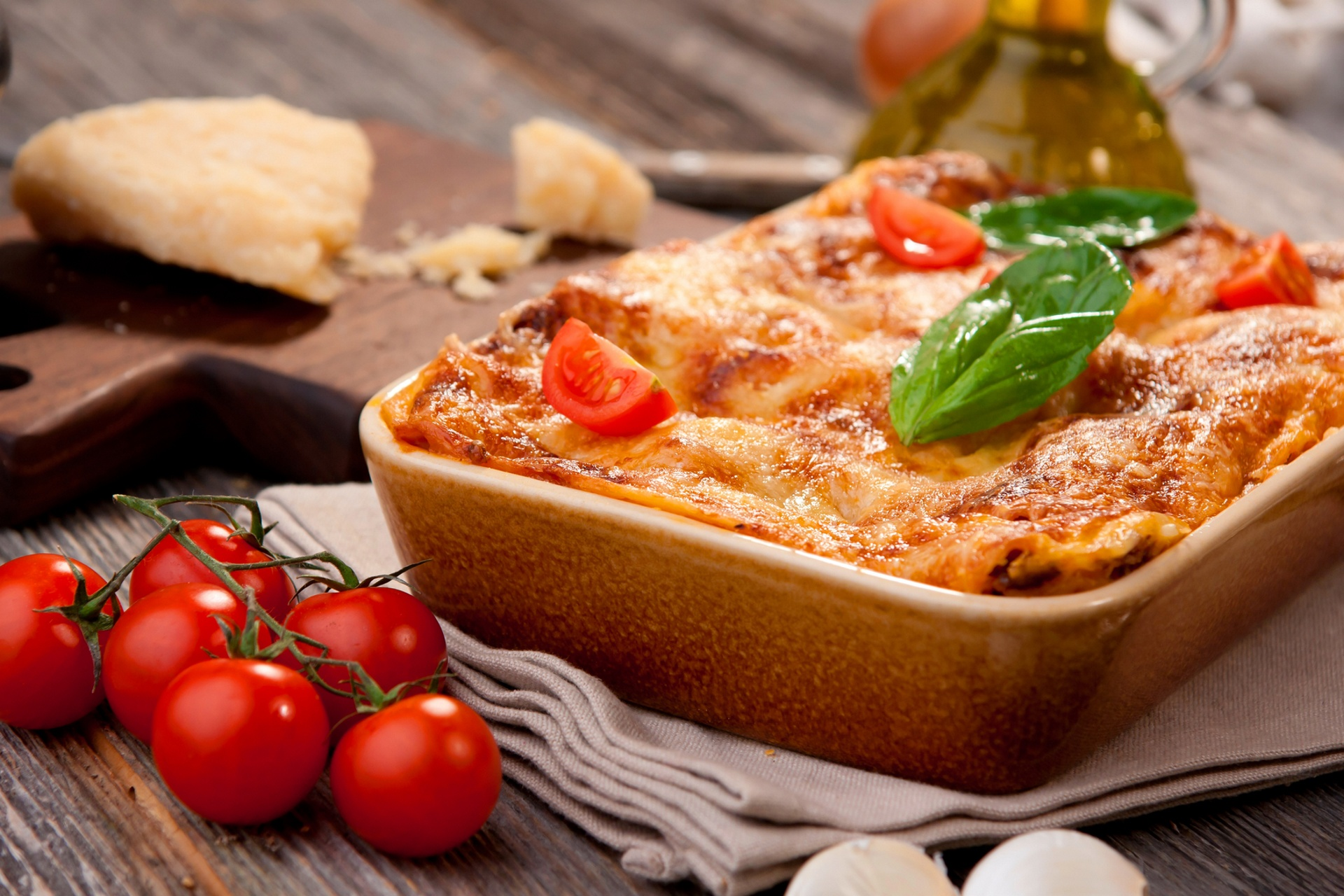 Lasagna Pasta Still Life Tomato 1920x1280
