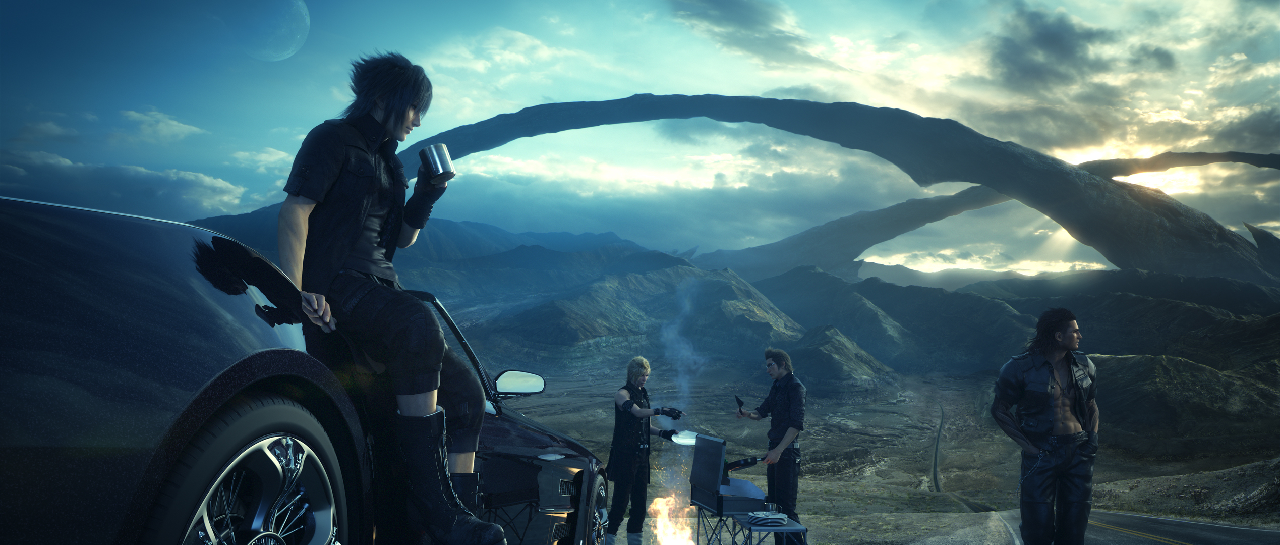 Final Fantasy Final Fantasy Xv Sunset 2560x1600