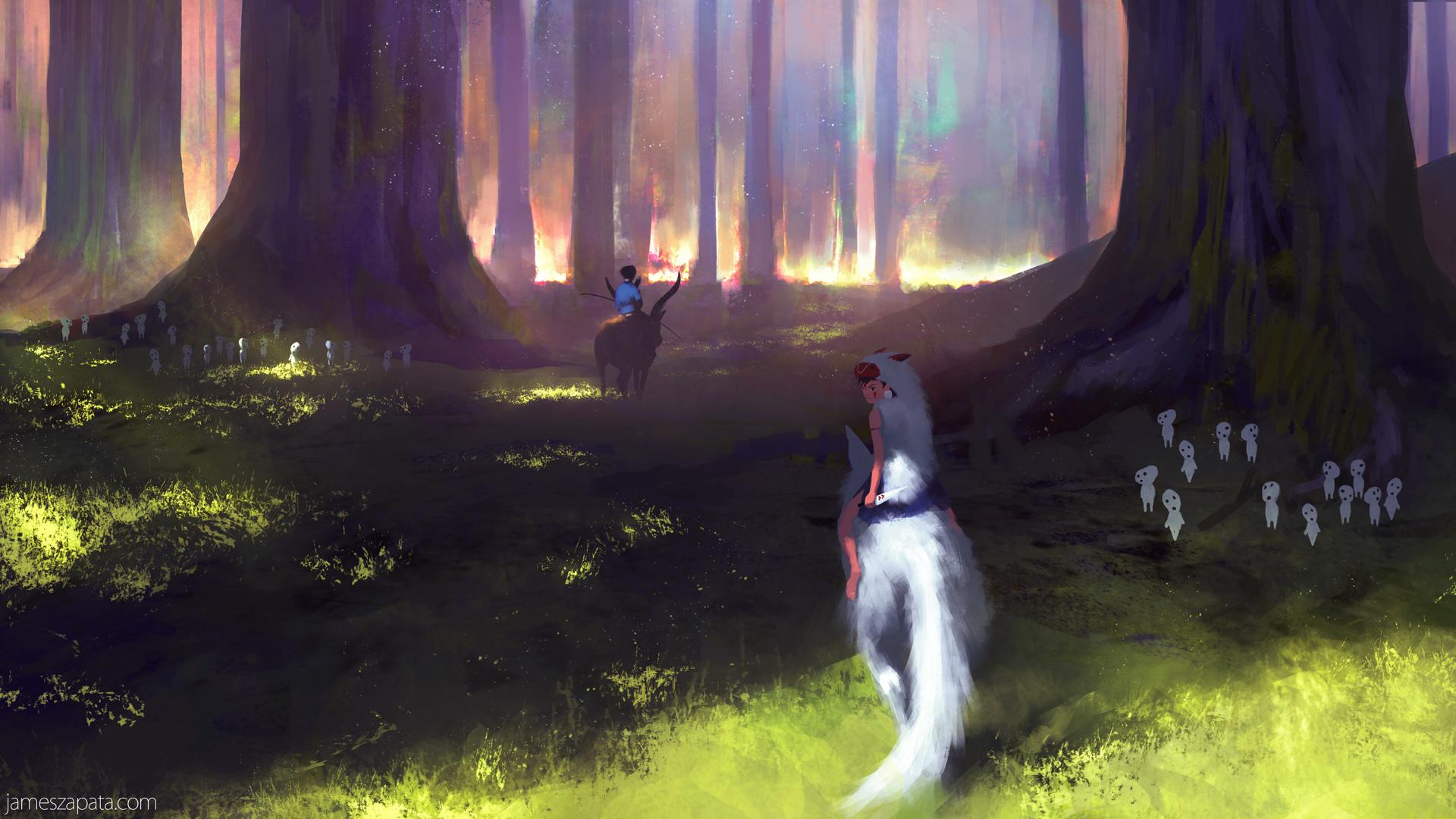 Anime Princess Mononoke 1920x1080