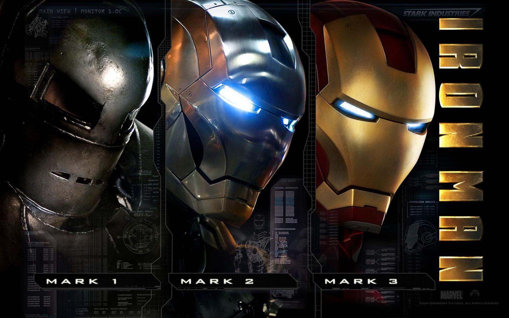 Iron Man Marvel Comics Tony Stark 2000x1250