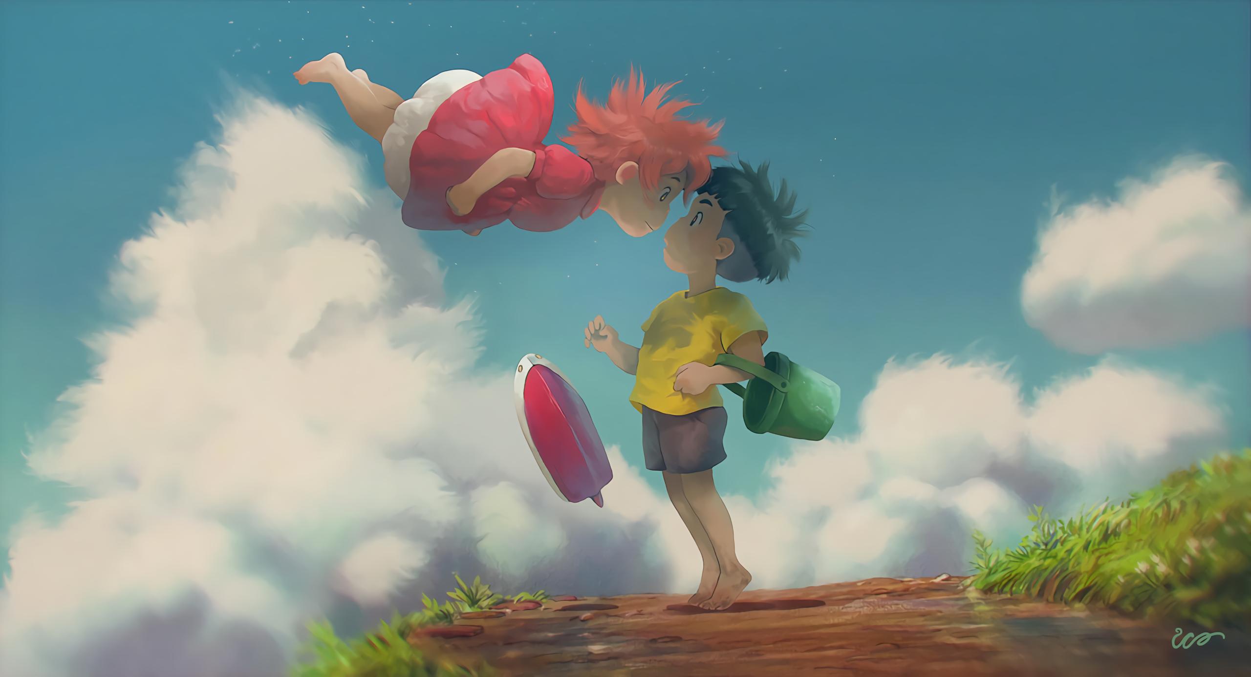 Ponyo Sosuke Ponyo Studio Ghibli 2560x1386