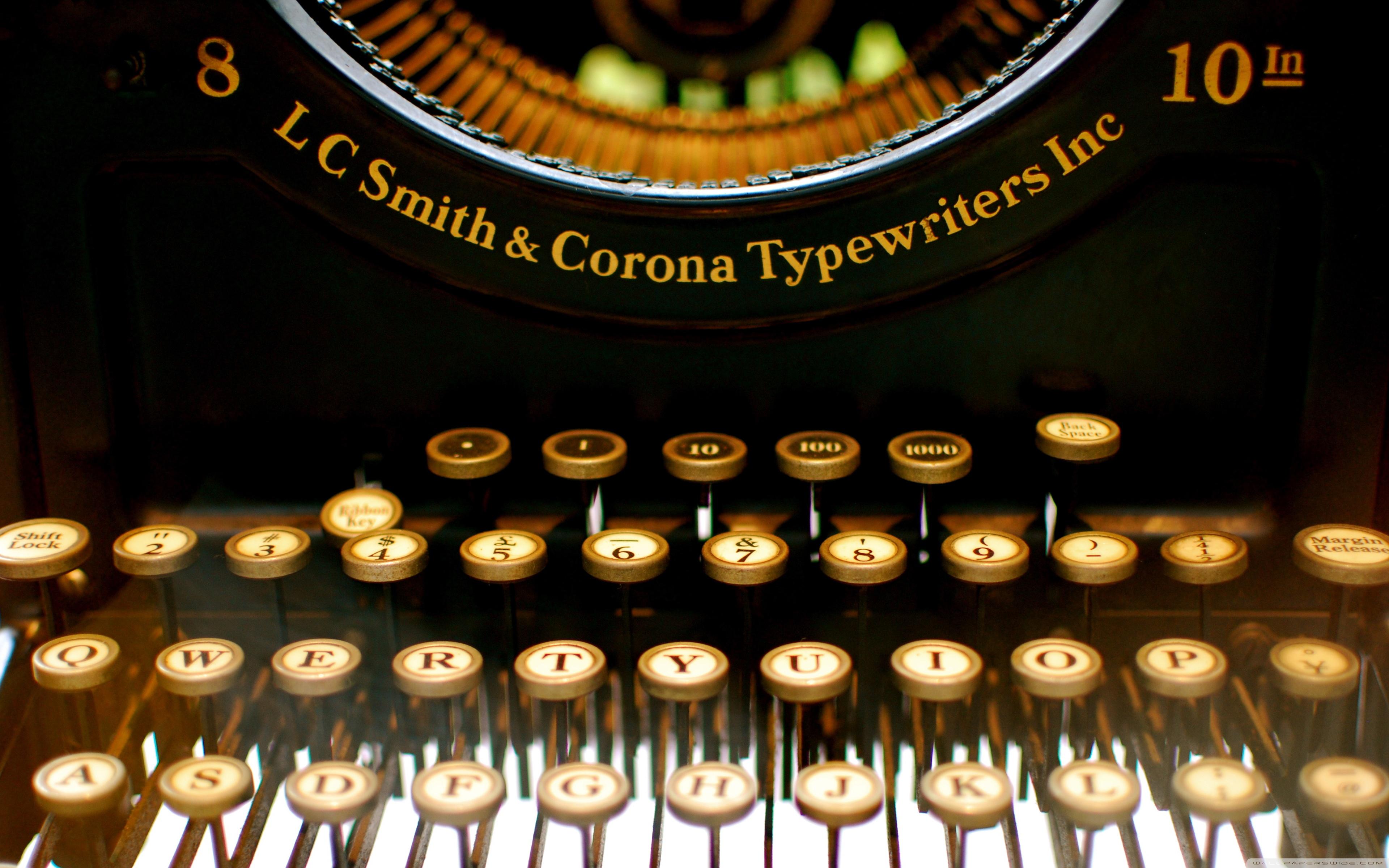 Man Made Typewriter 3840x2400