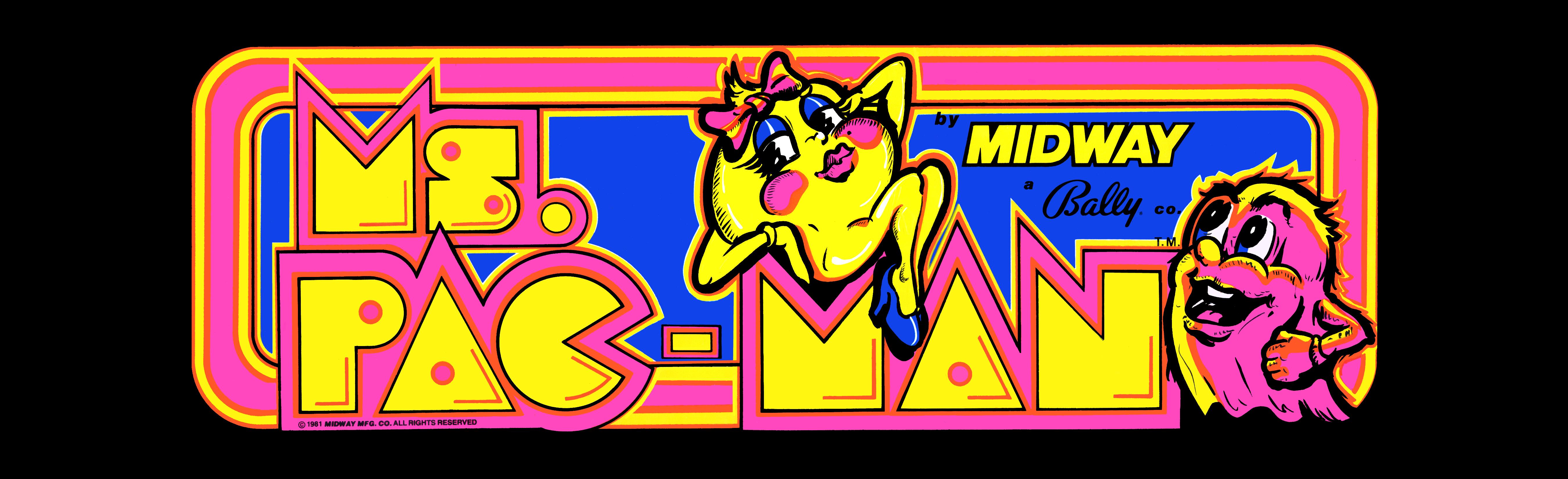 Video Game Ms Pac Man 5400x1650