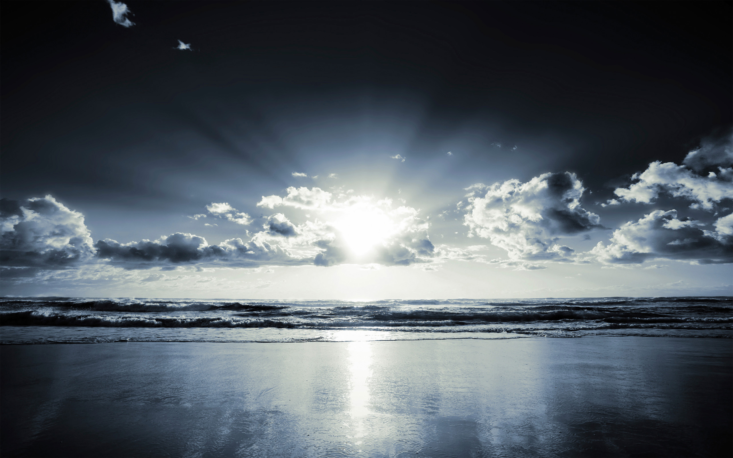 Horizon Landscape Ocean Shoreline 2560x1600