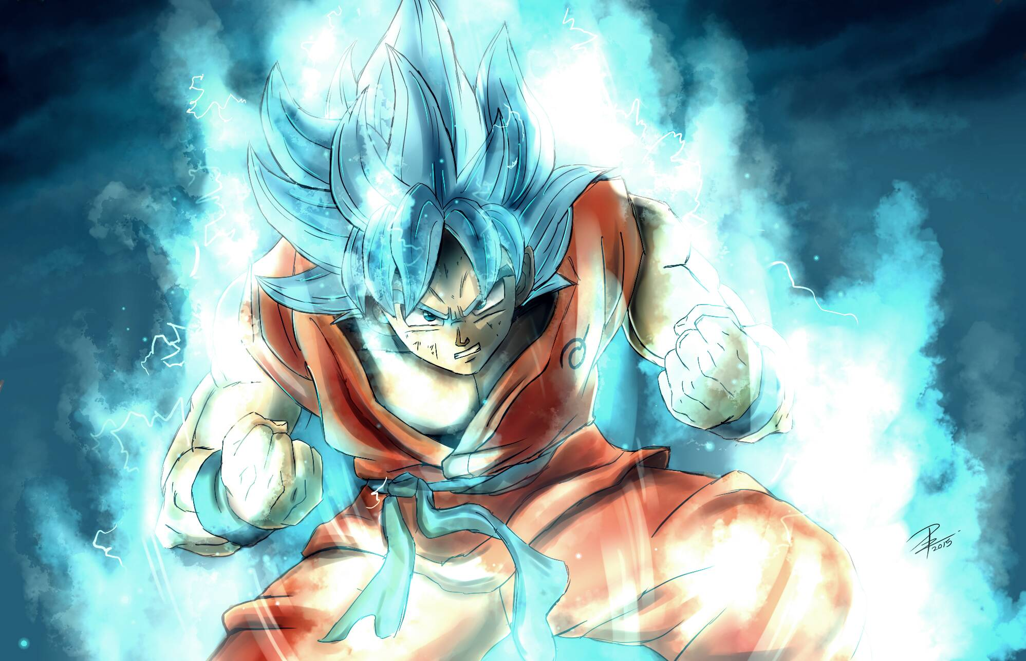 Dragon Ball Dragon Ball Super Goku Super Saiyan Blue 1997x1287