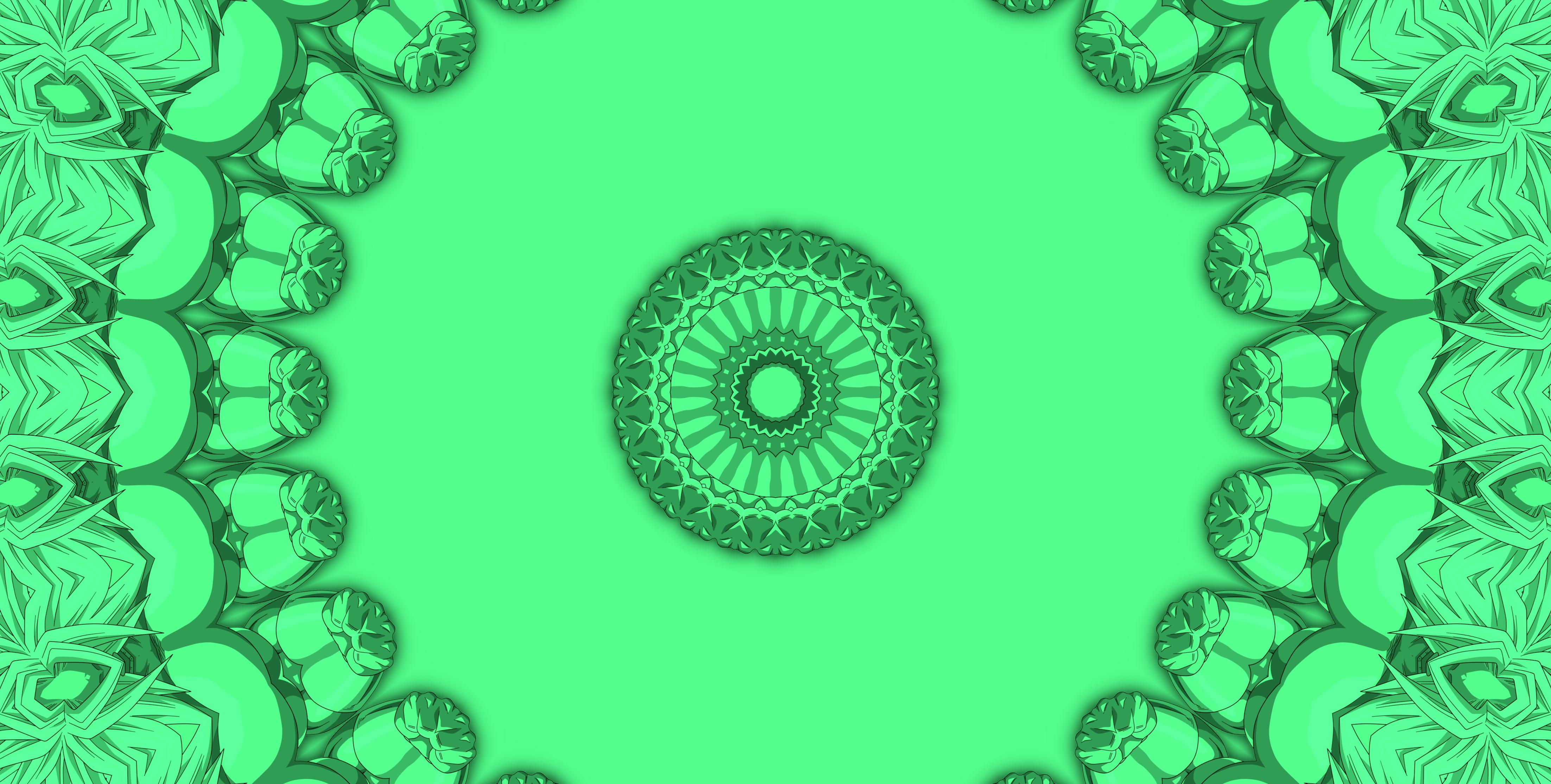 Abstract Artistic Digital Art Kaleidoscope Pattern 4408x2229