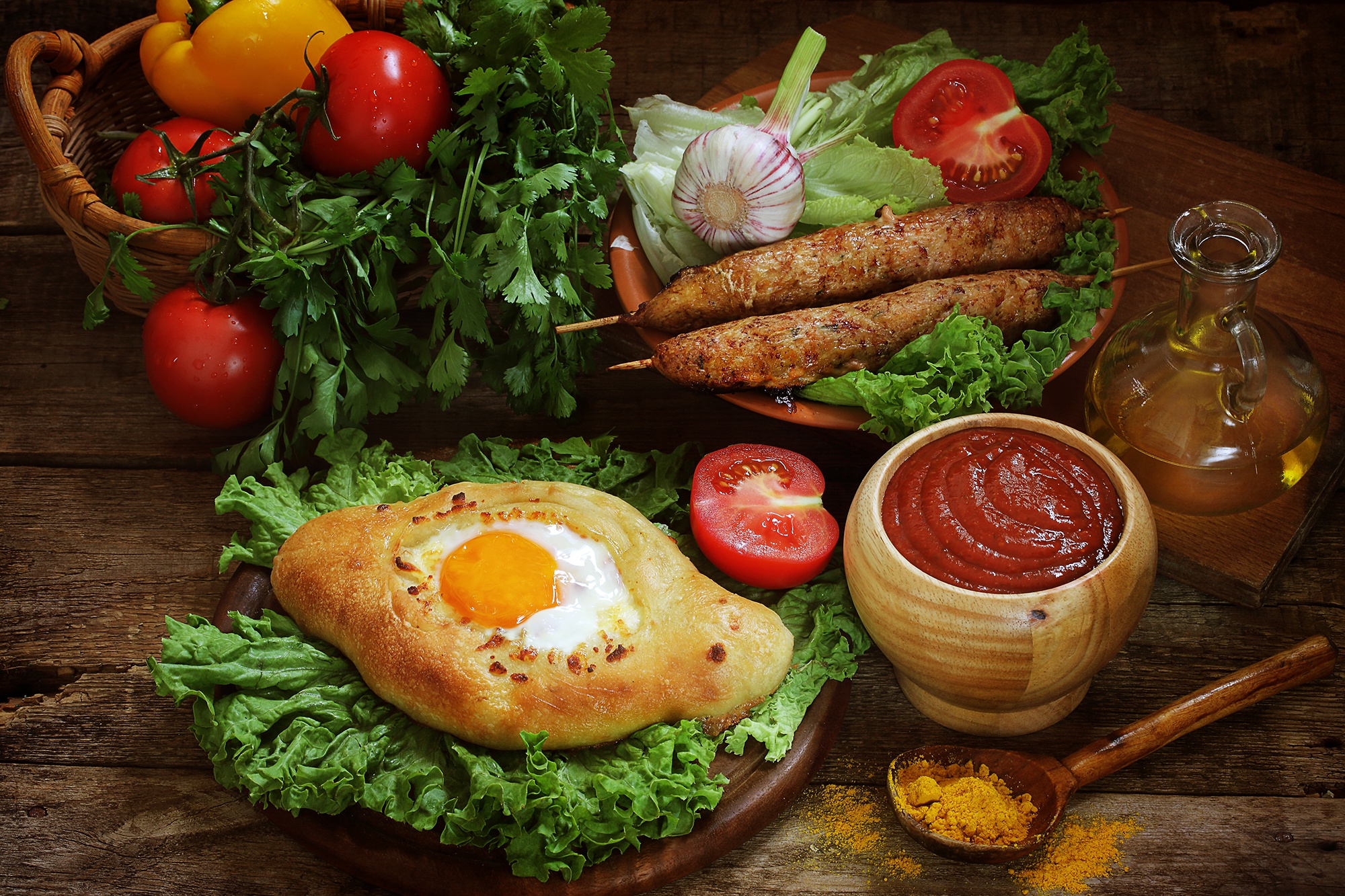 Egg Ketchup Still Life Tomato 2000x1333
