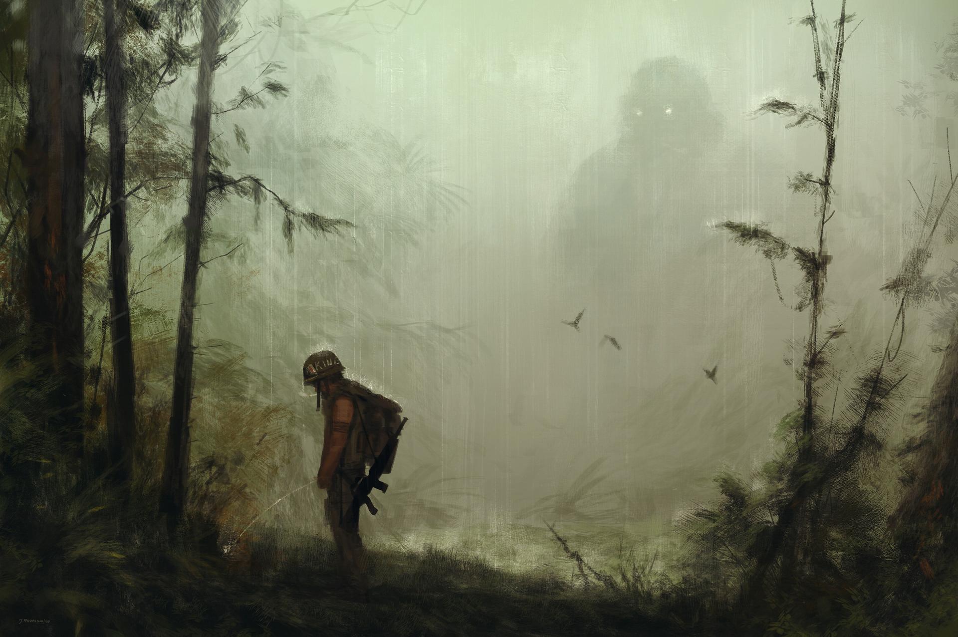 Kong Skull Island Rain Silhouette 1920x1277