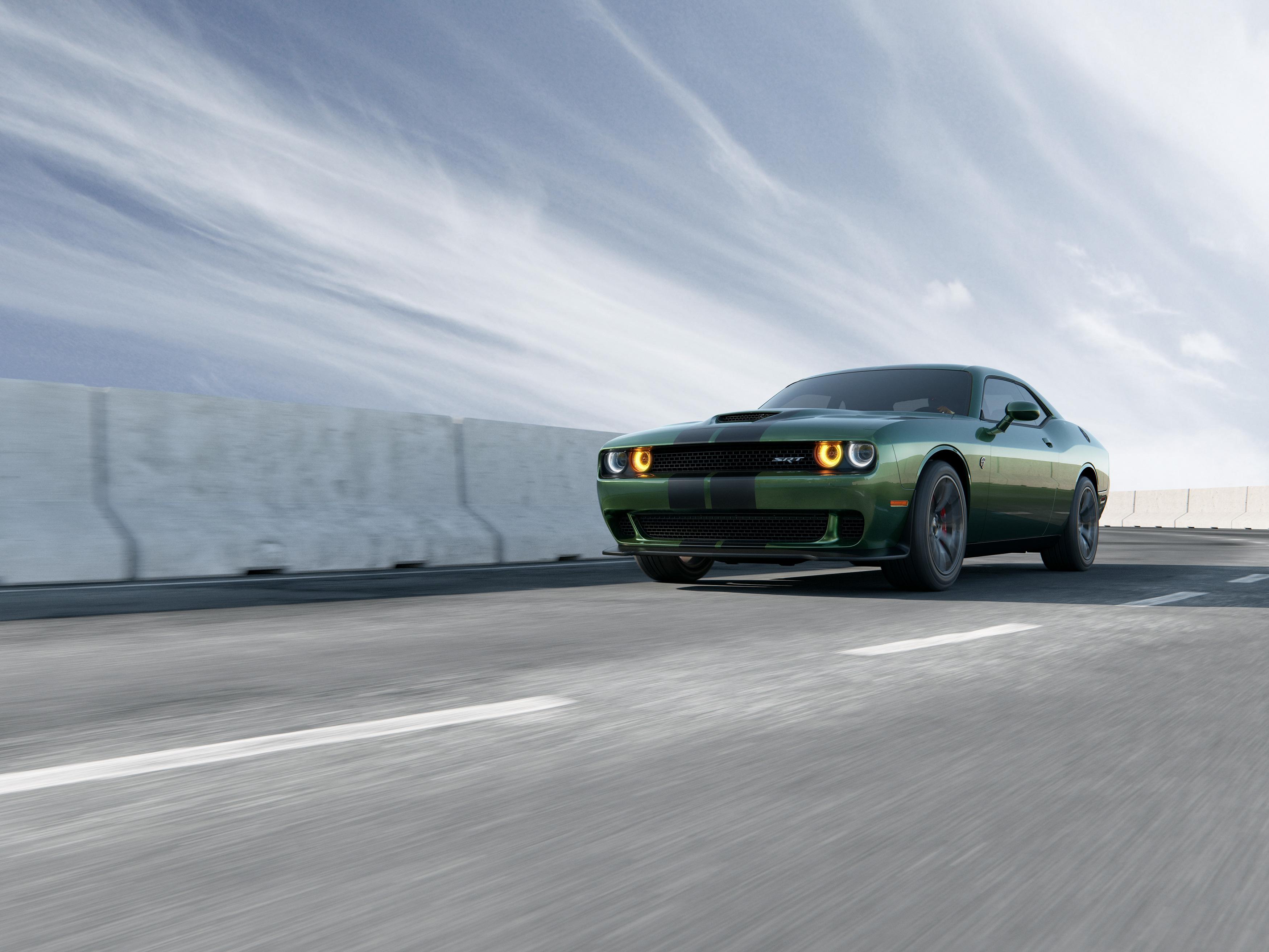 Car Dodge Dodge Challenger Dodge Challenger Srt Green Car Muscle Car Vehicle 3500x2625