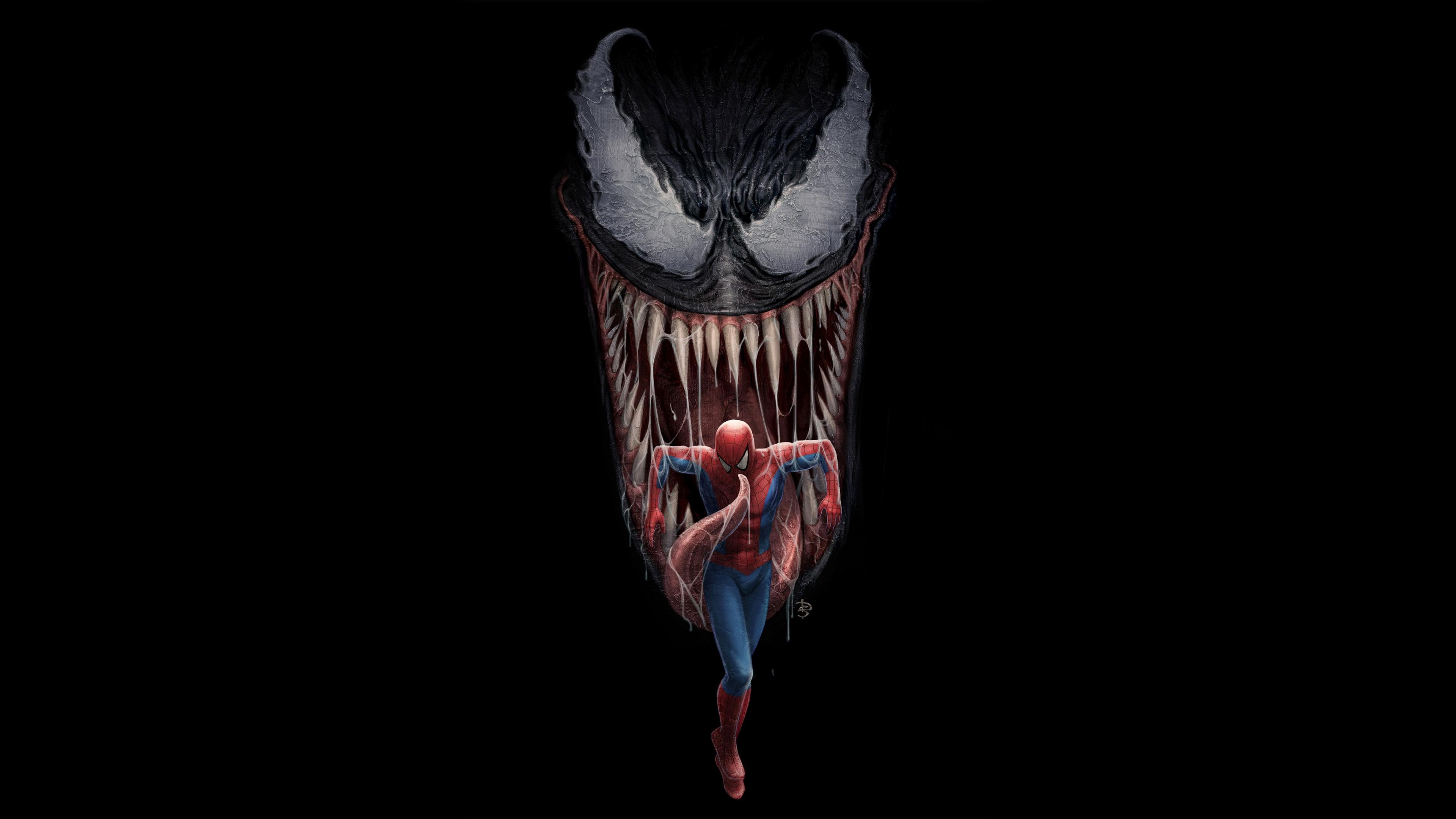 Antihero Eddie Brock Marvel Comics Monster Peter Parker Spider Man Superhero Symbiote Venom 3840x2160