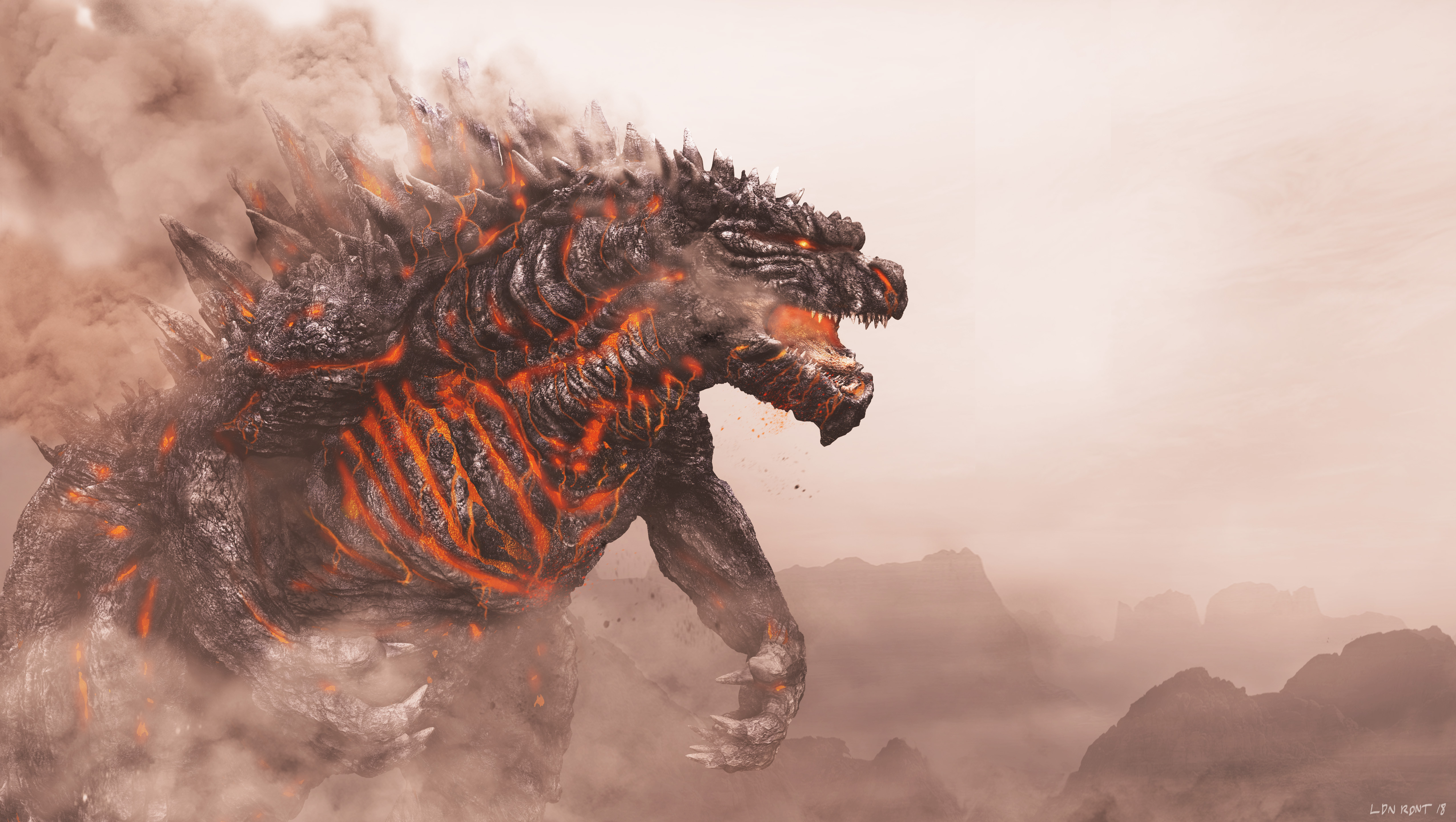 Godzilla 5100x2880