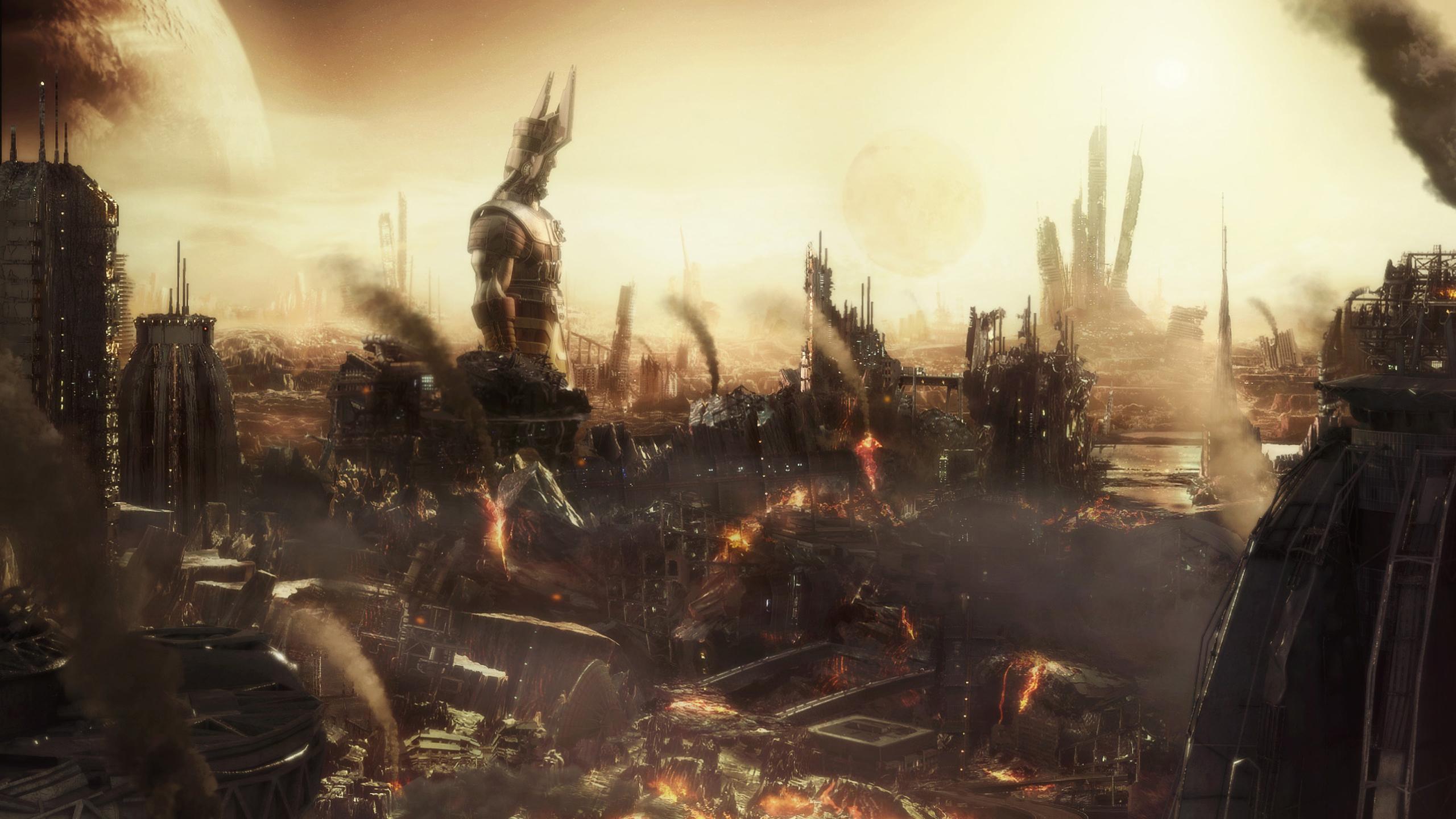 Sci Fi Post Apocalyptic Wallpaper Resolution 2560x1440 Id 1010567 Wallha Com