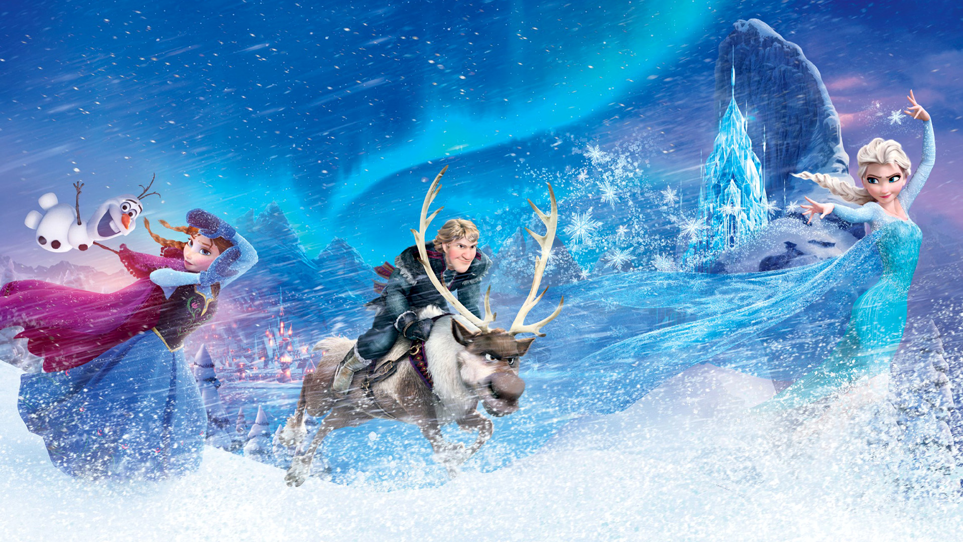 Anna Frozen Elsa Frozen Kristoff Frozen Olaf Frozen Sven Frozen 1920x1080