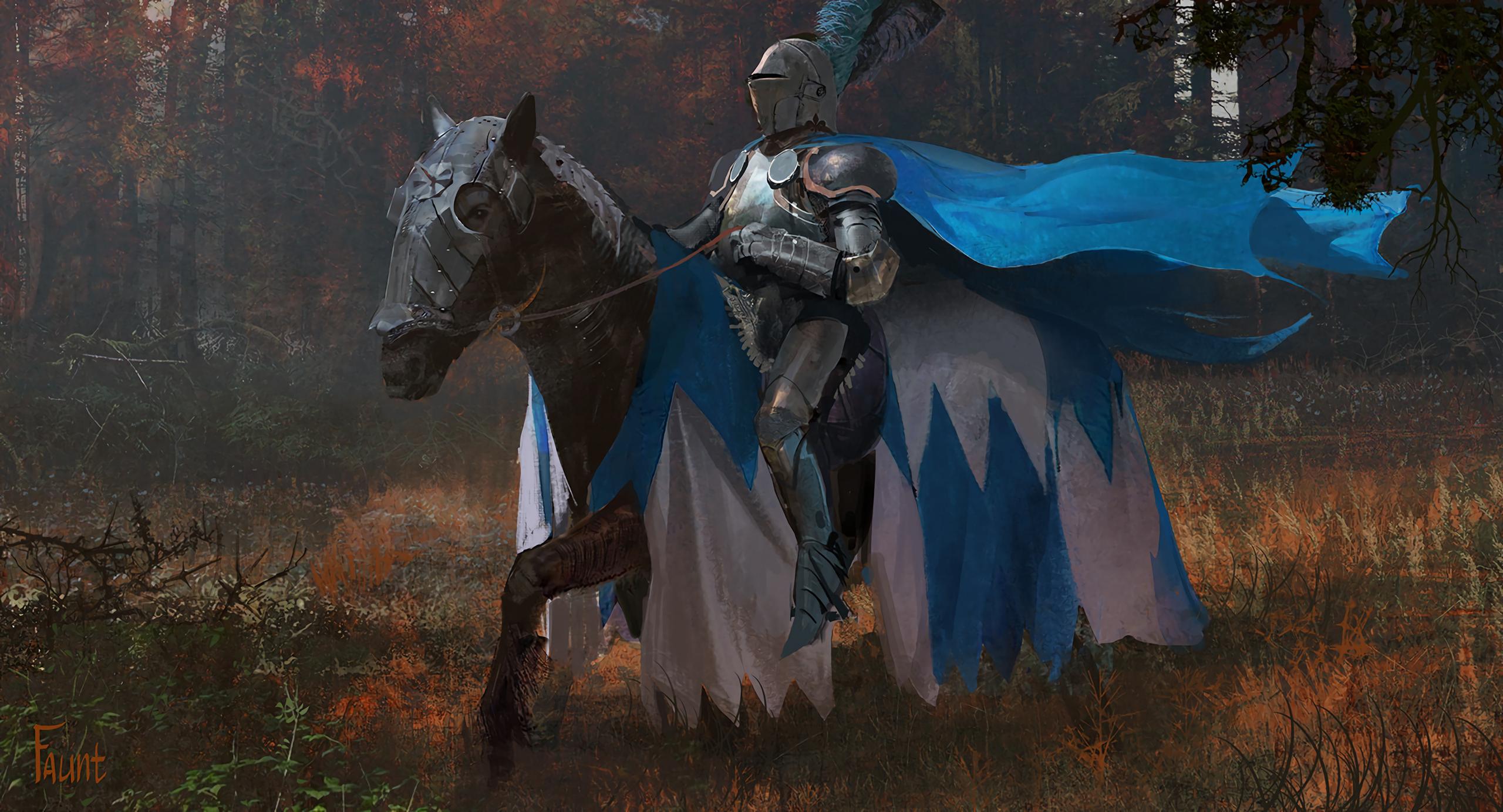 Armor Horse Knight Warrior 2560x1383