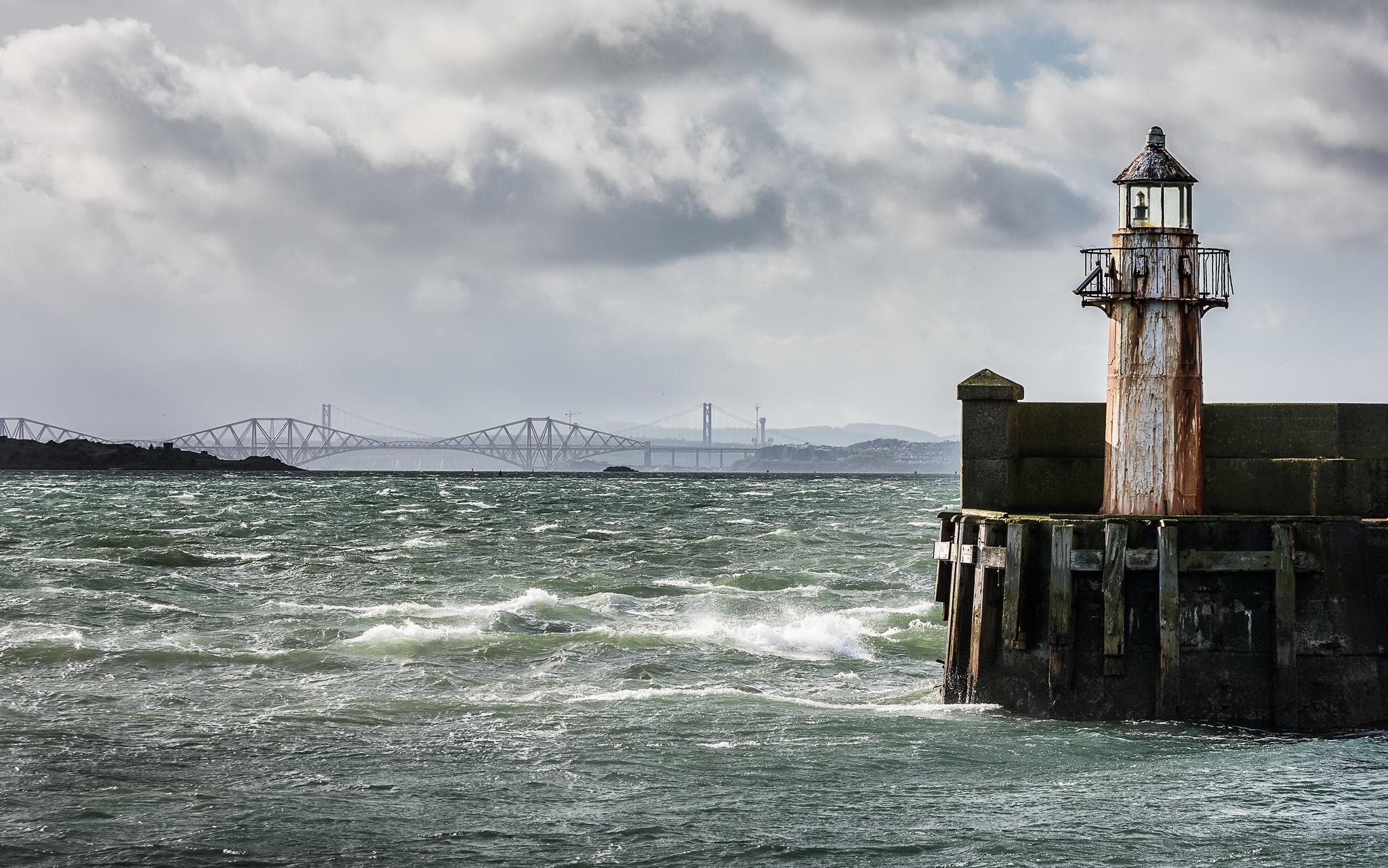 Scotland Burntisland Scotland River Forth Scotland Lighthouse 2048x1282