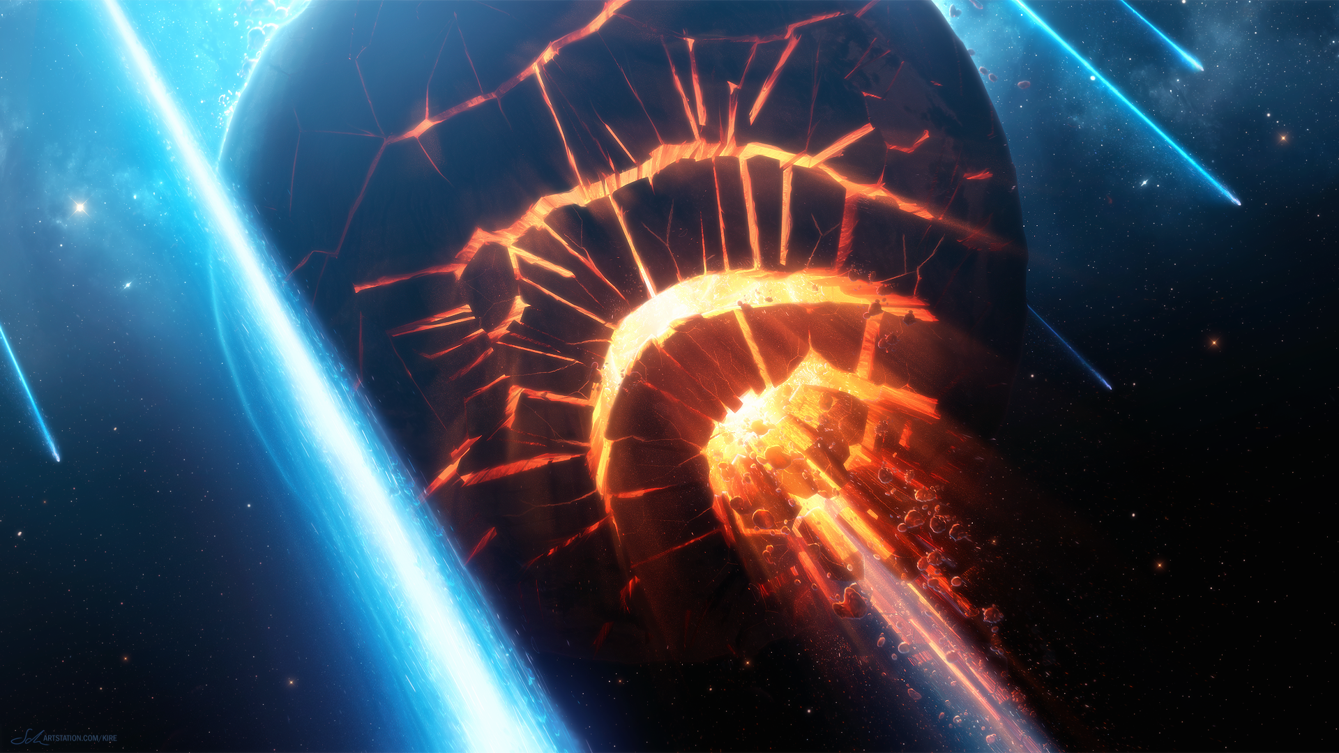 Collision Planet Space 1920x1080