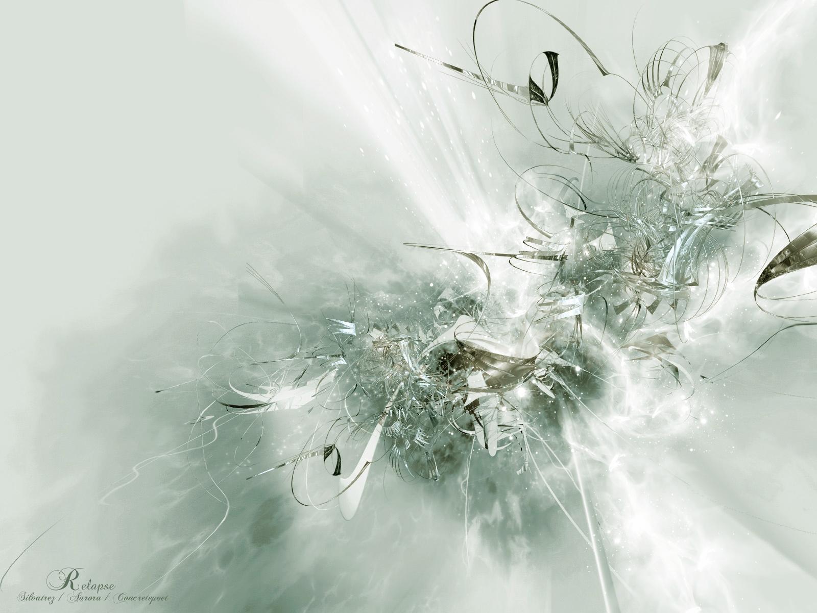 Artistic Cgi Colors Pattern Shapes Texture White 1600x1200