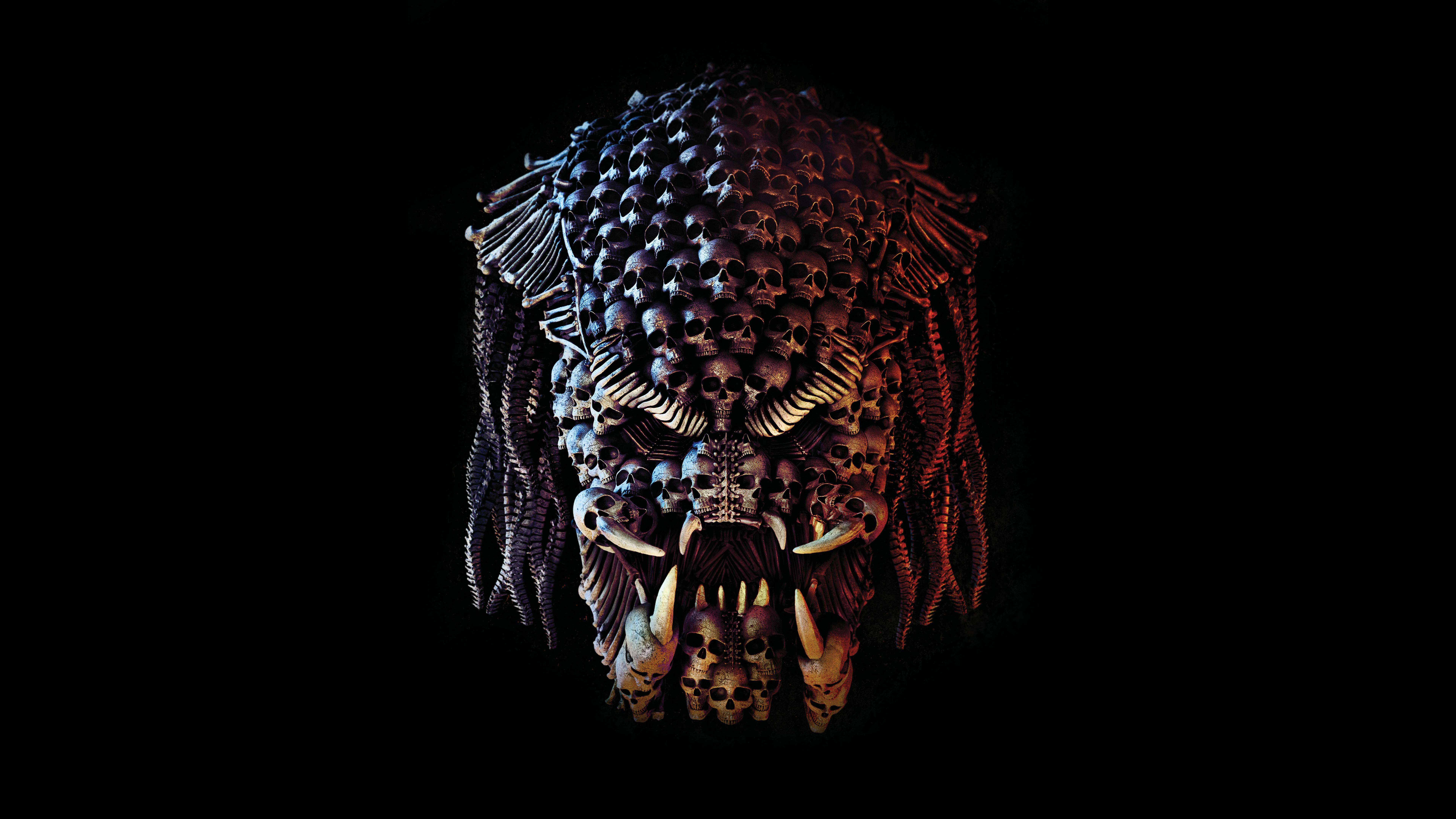 Alien Predator Sci Fi Skull The Predator Movie 7680x4320