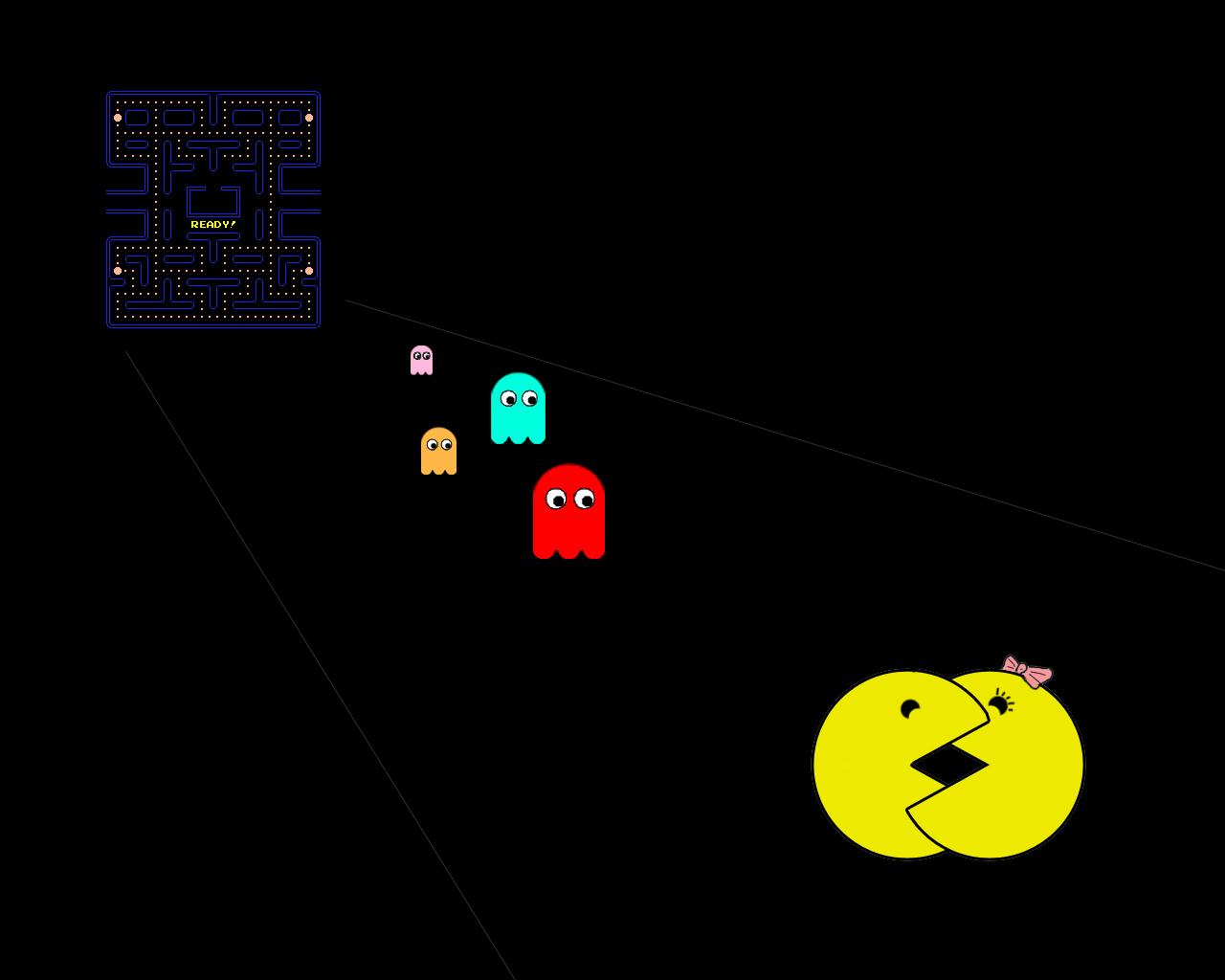 Video Game Pac Man 1280x1024