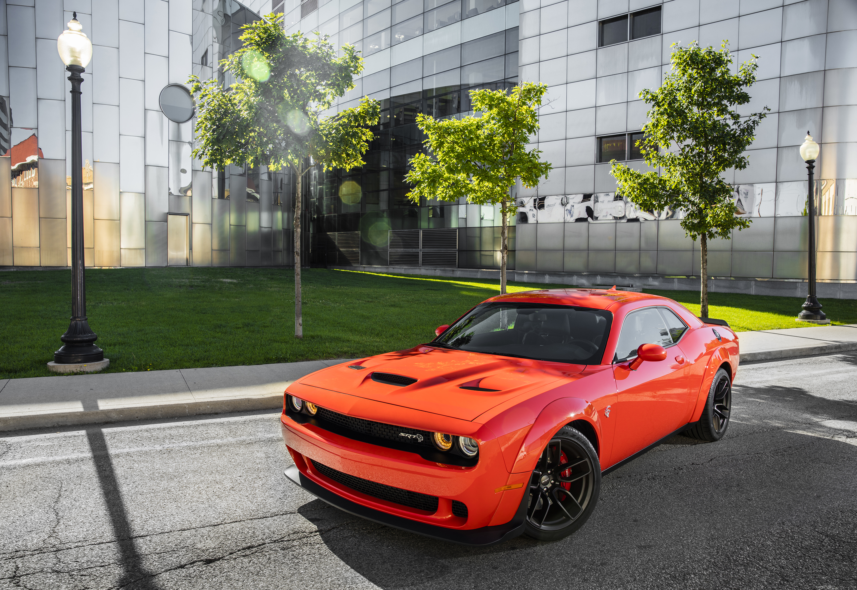 Car Dodge Dodge Challenger Dodge Challenger Srt Muscle Car Red Car Vehicle 3000x2068