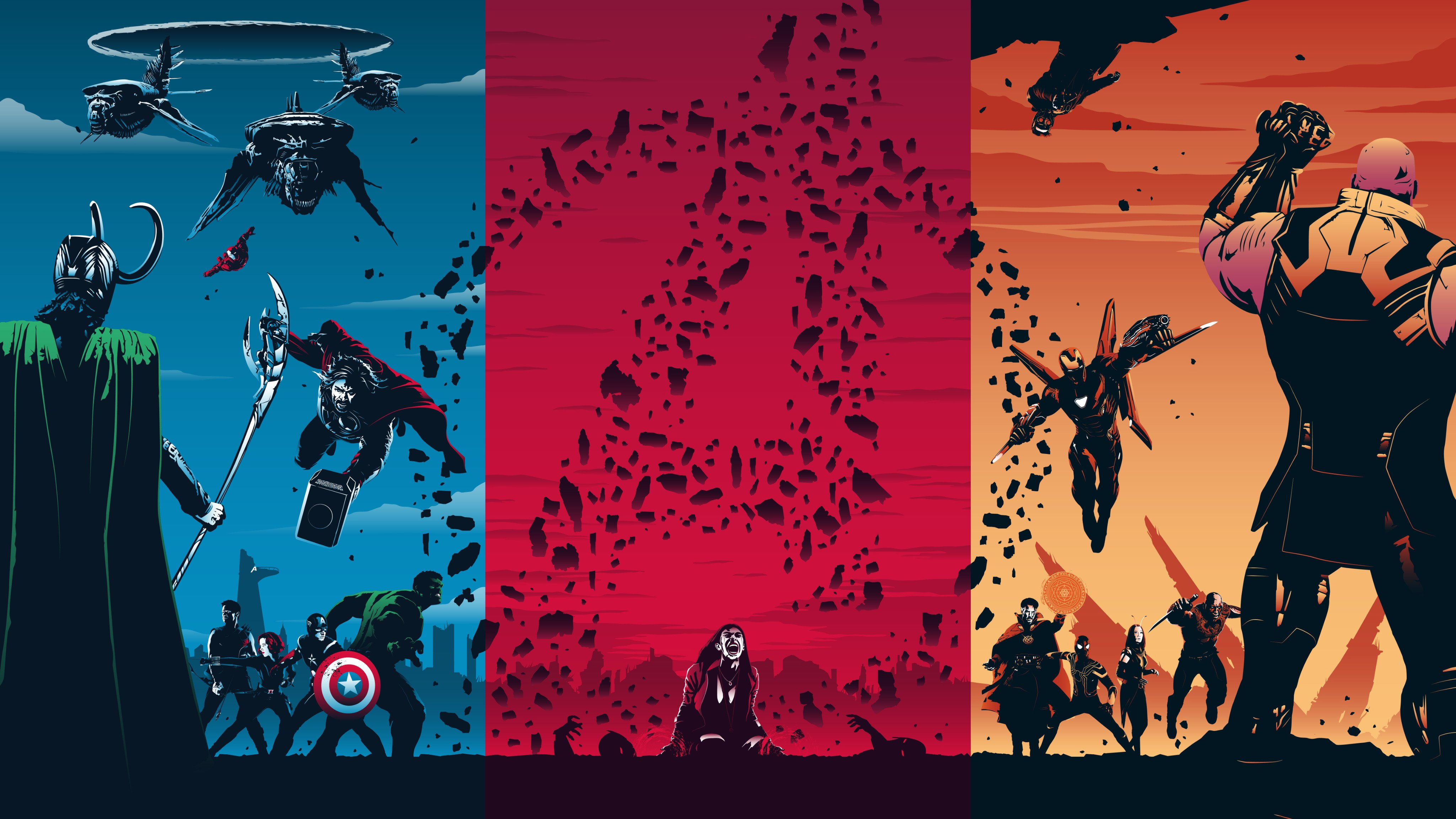 Black Widow Captain America Doctor Strange Drax The Destroyer Hawkeye Hulk Iron Man Loki Mantis Marv Wallpaper Resolution 4096x2304 Id 1079604 Wallha Com