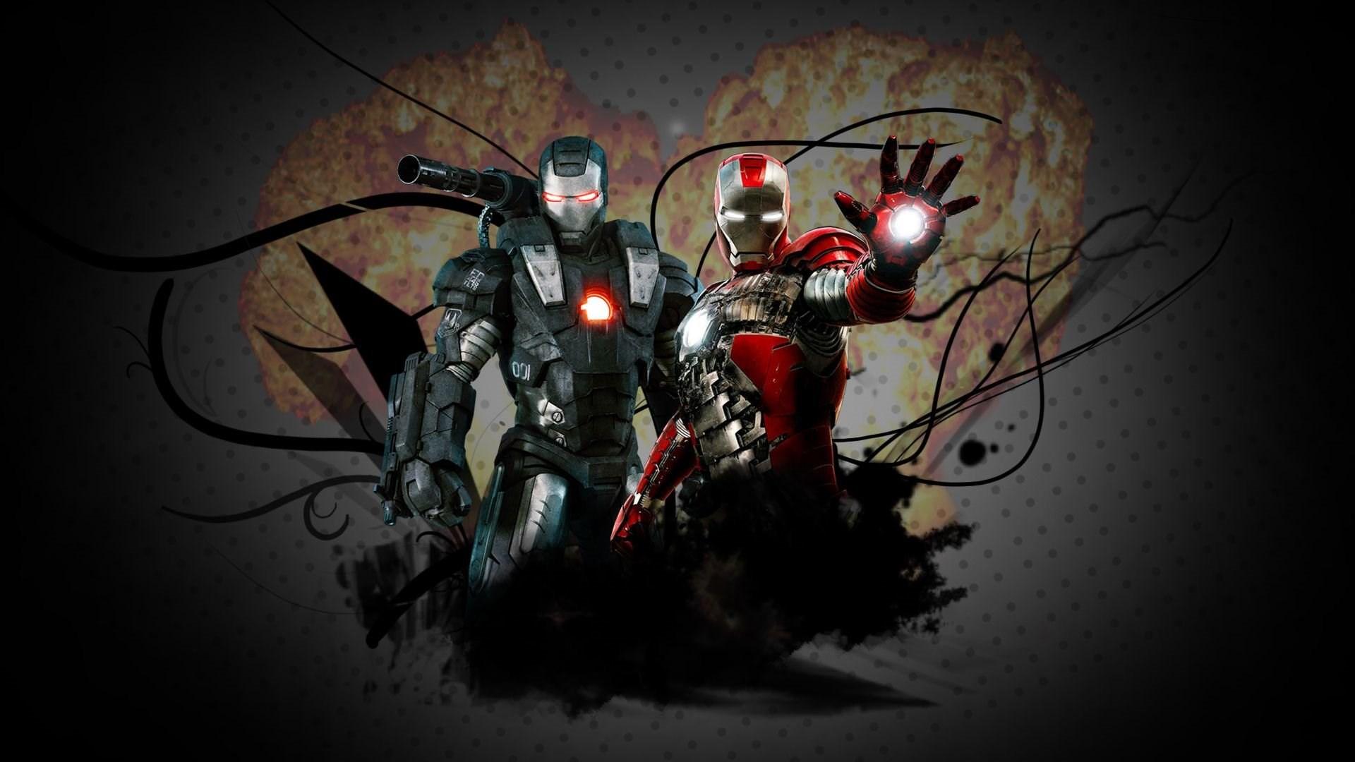 Iron Man Iron Man 2 Marvel Comics War Machine 1920x1080