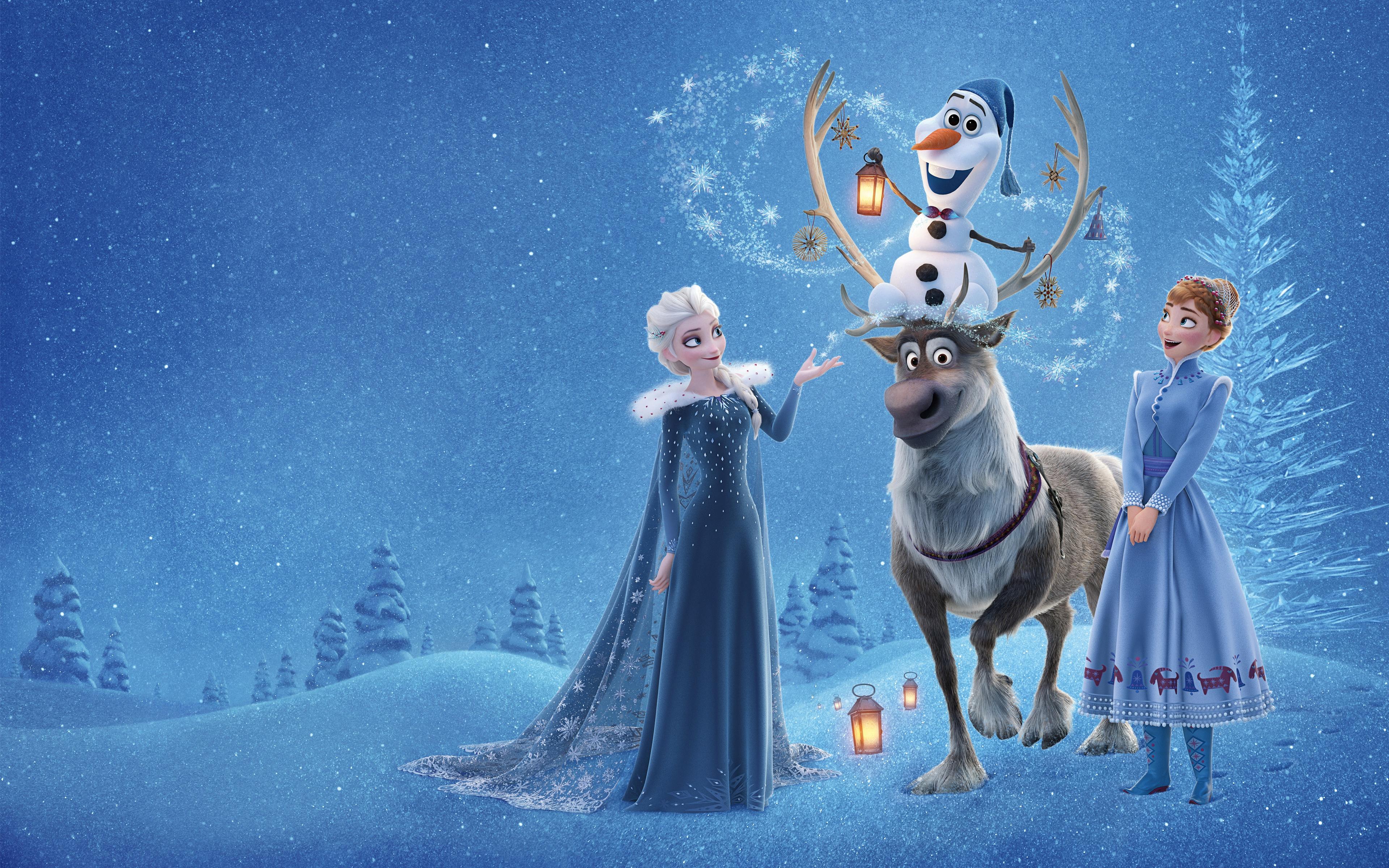 Anna Frozen Elsa Frozen Frozen Movie Olaf Frozen Sven Frozen 3840x2400