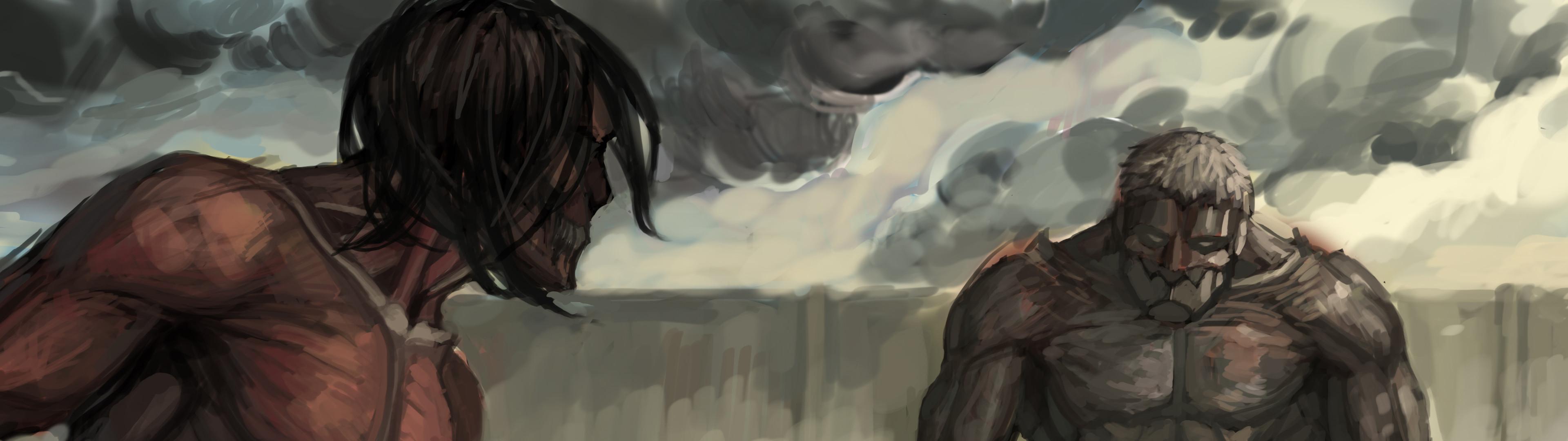 Anime Attack On Titan Wallpaper Resolution 3840x1080 Id 1041371 Wallha Com