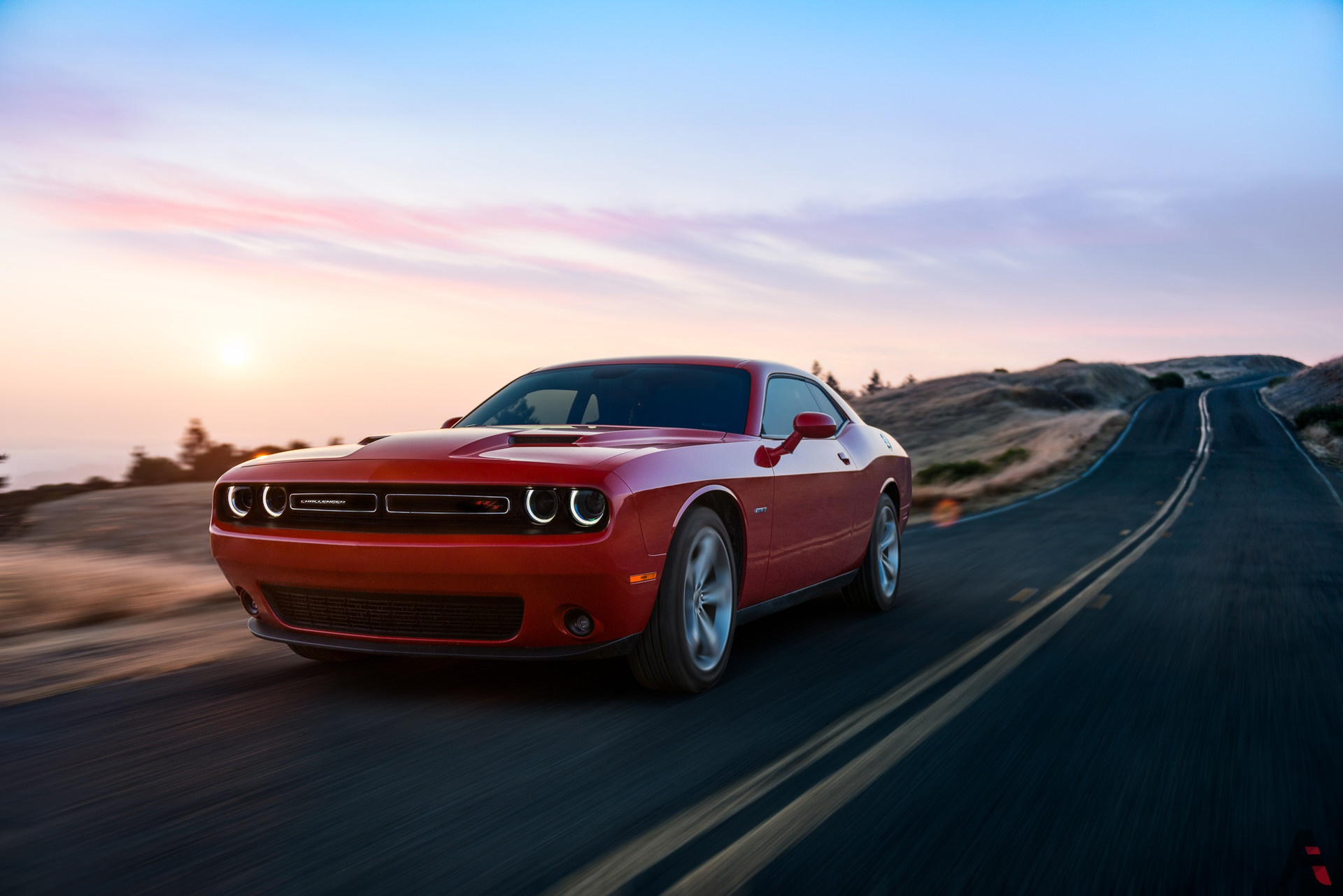 Car Dodge Dodge Challenger Muscle Car Red Car Vehicle 1920x1282