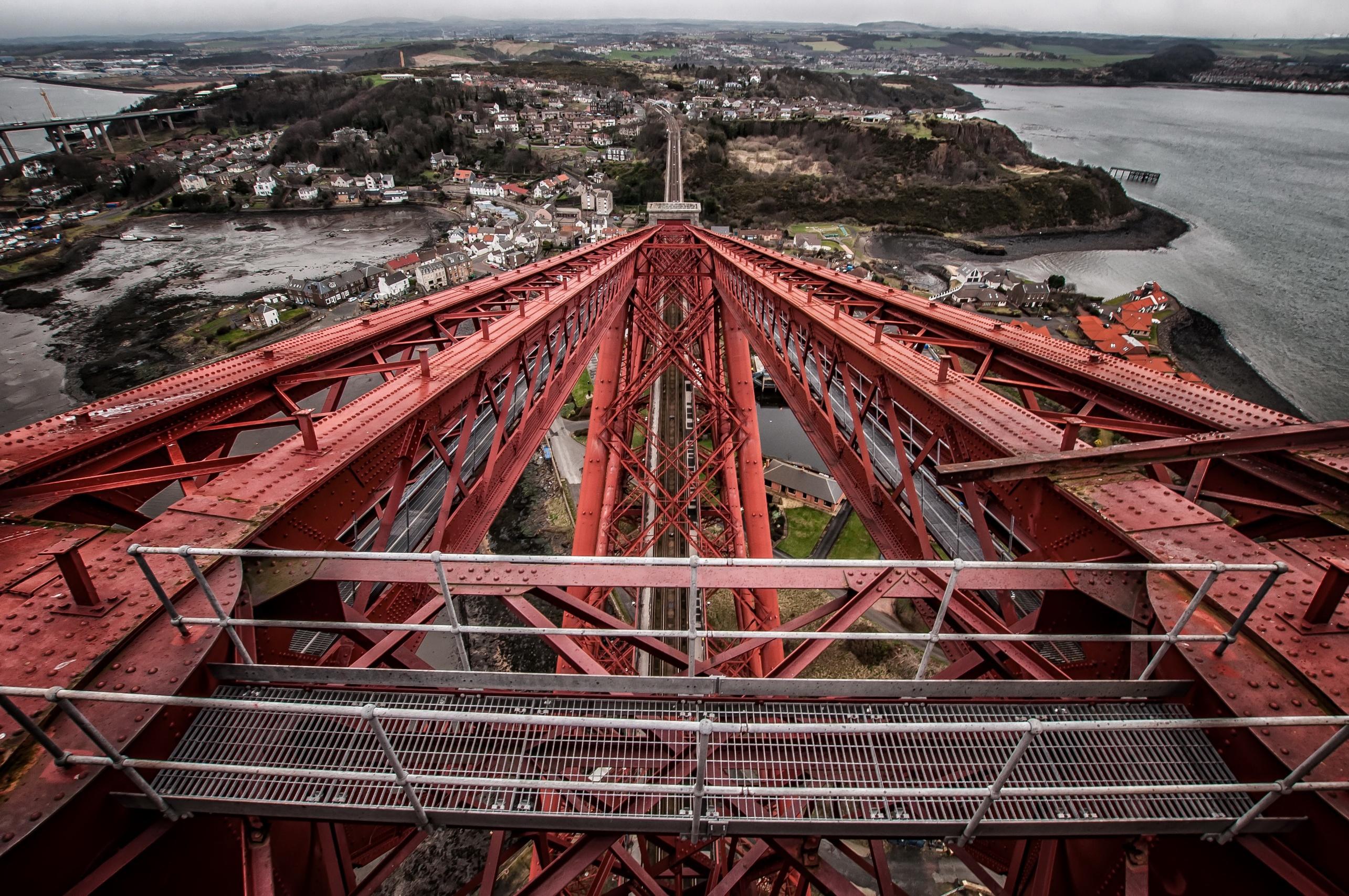 Architecture Edinburgh Forth Bridge Metal Scotland 2570x1707