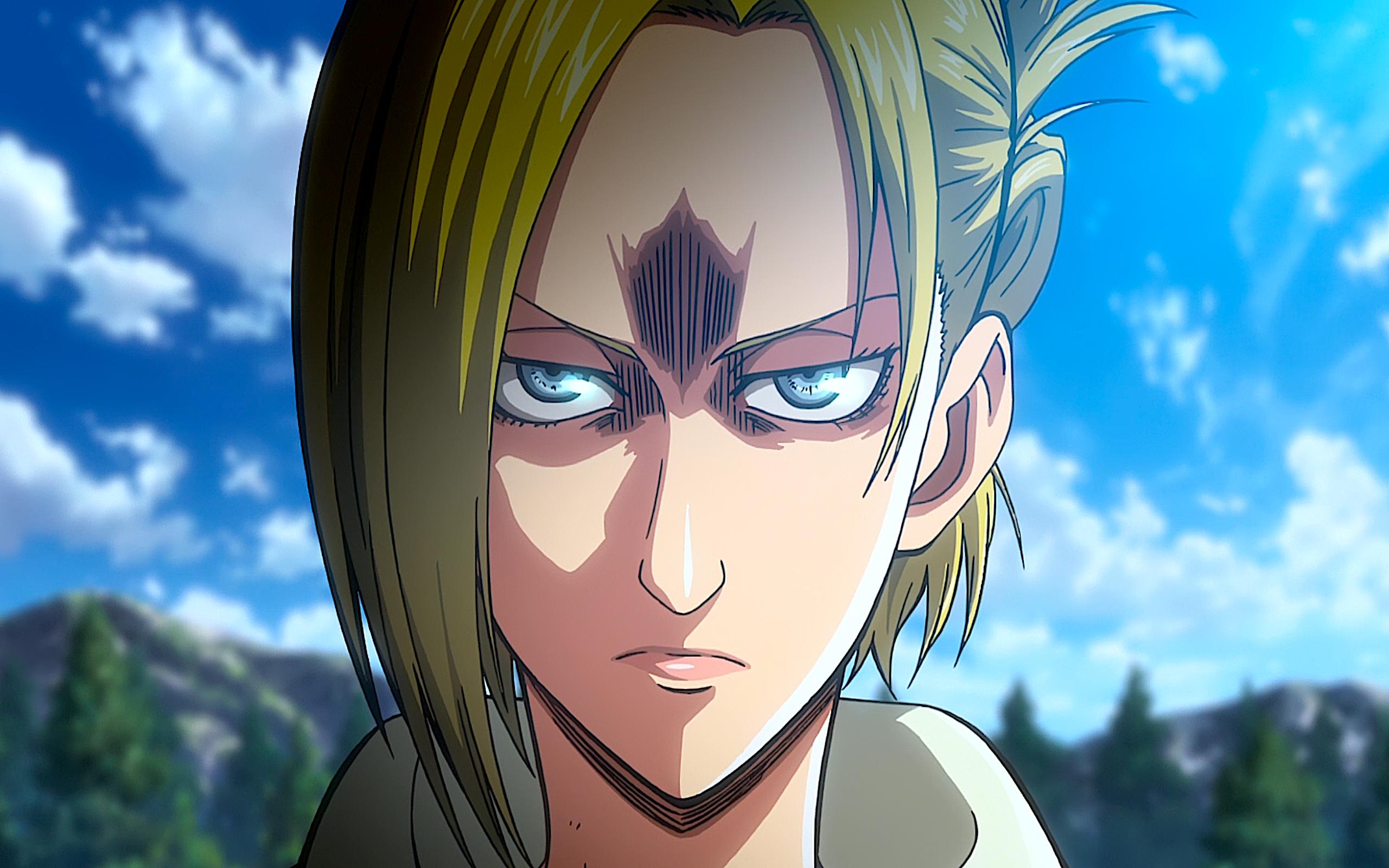 Angry Annie Leonhart Attack On Titan Blonde Blue Eyes Shingeki No Kyojin Wallpaper Resolution 2560x1600 Id 1038486 Wallha Com