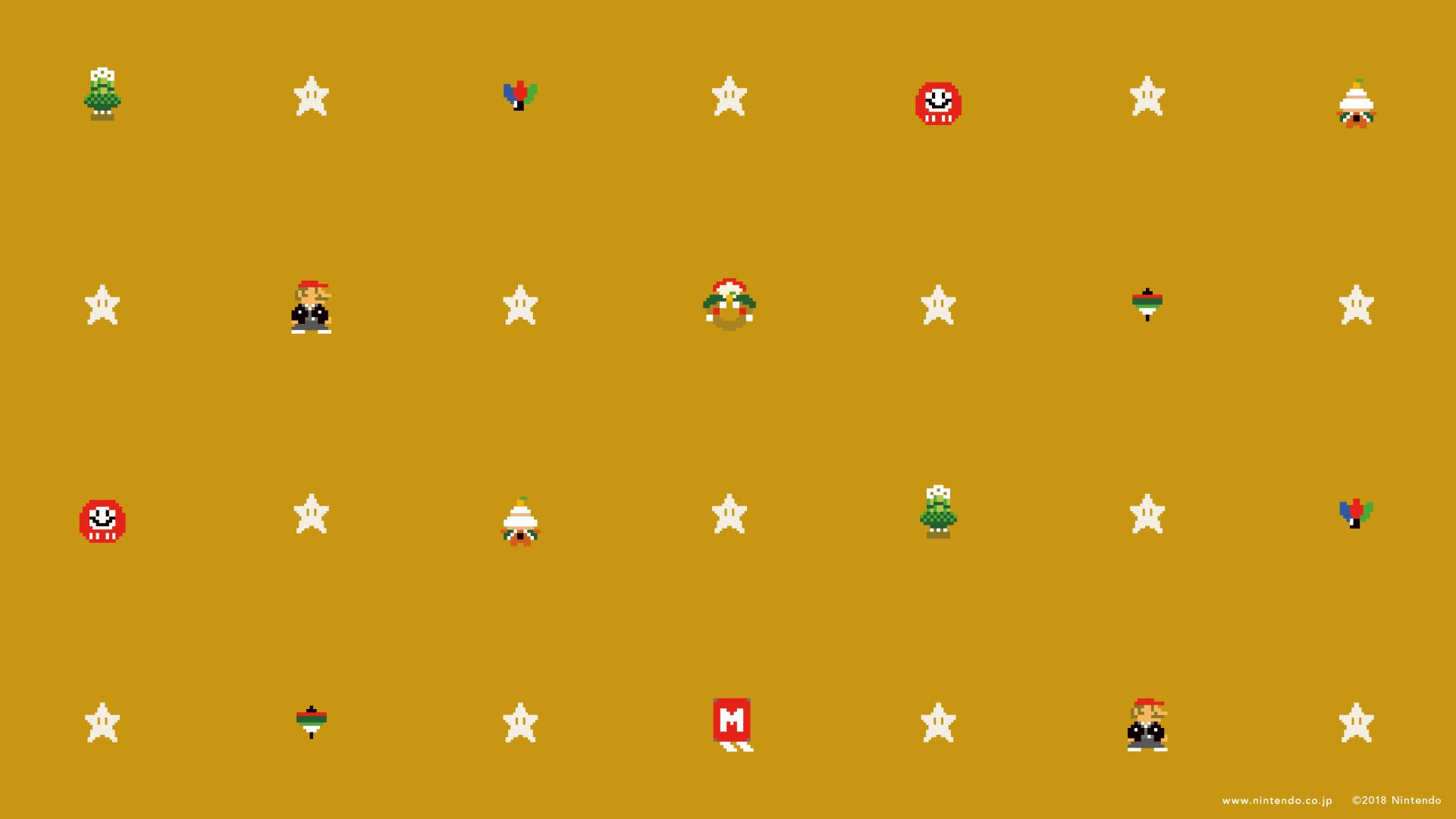 16 Bit Nintendo Pixel Art Super Mario Kart 1920x1080