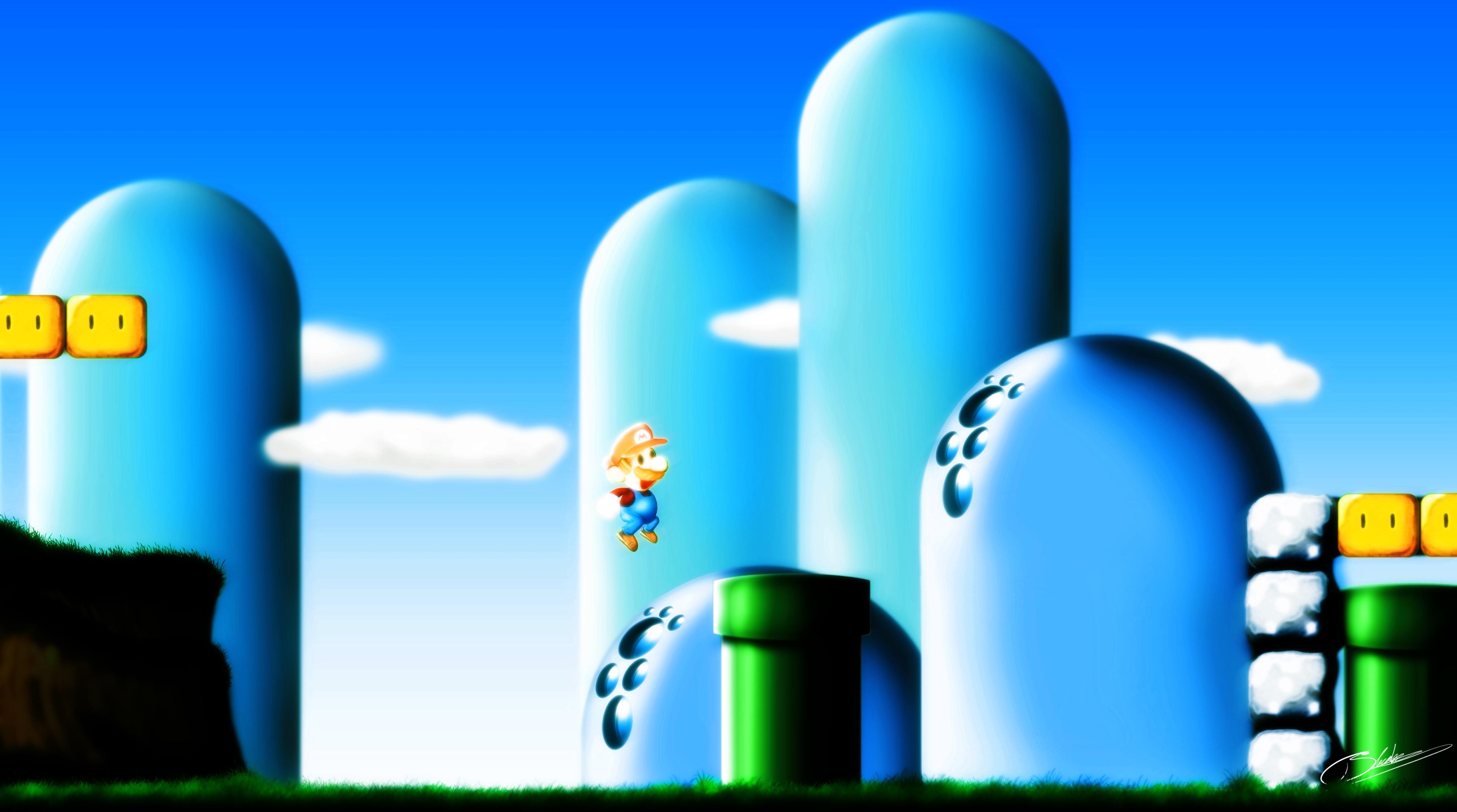 Video Game Mario 4042x2254