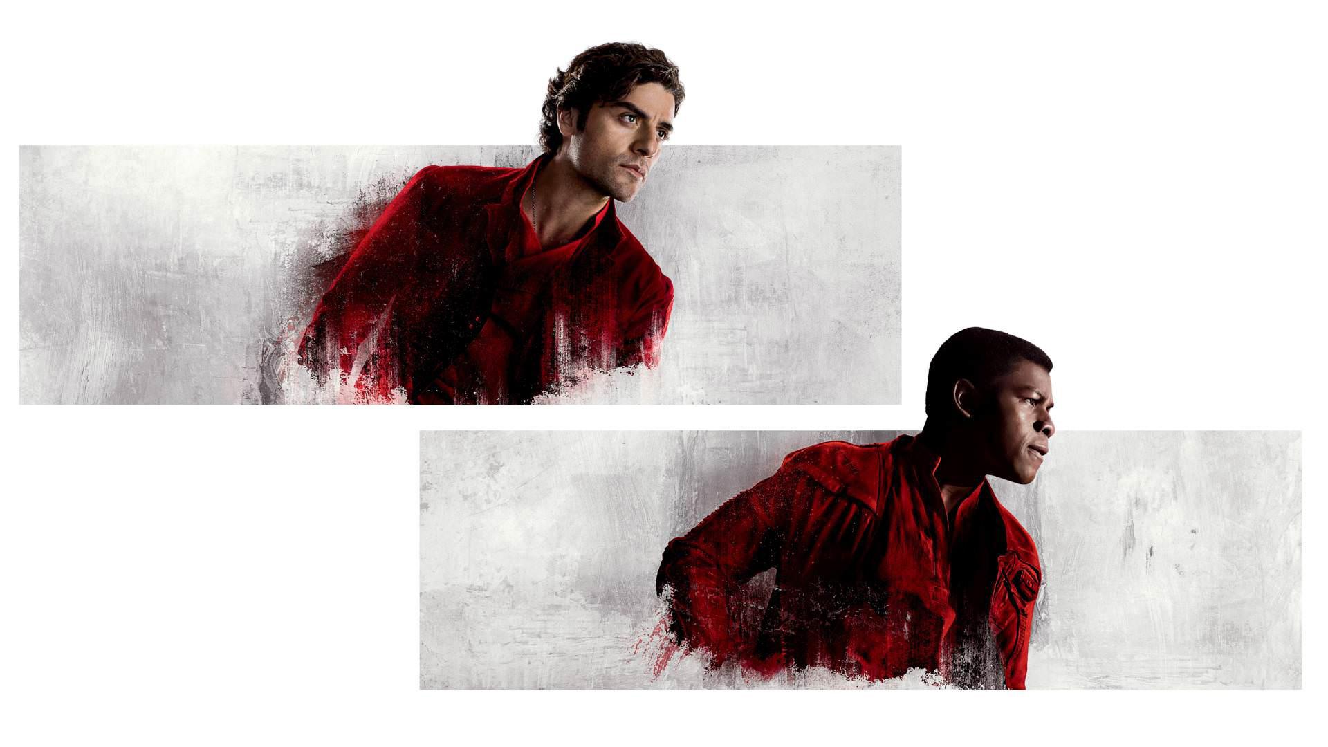 Finn Star Wars John Boyega Oscar Isaac Poe Dameron Star Wars Star Wars The Last Jedi 1920x1080