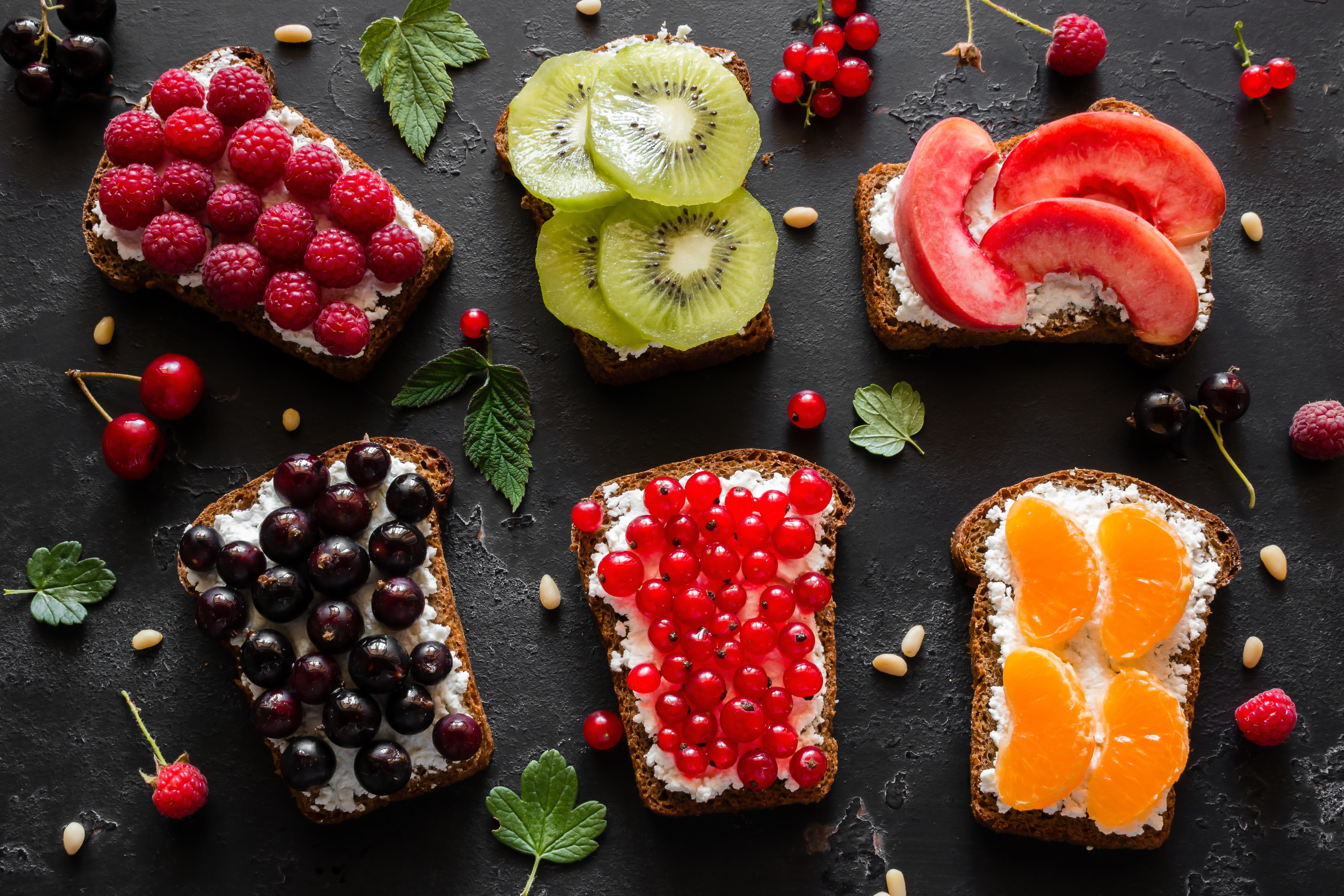 Berry Bread Fruit Still Life Toast 5472x3648