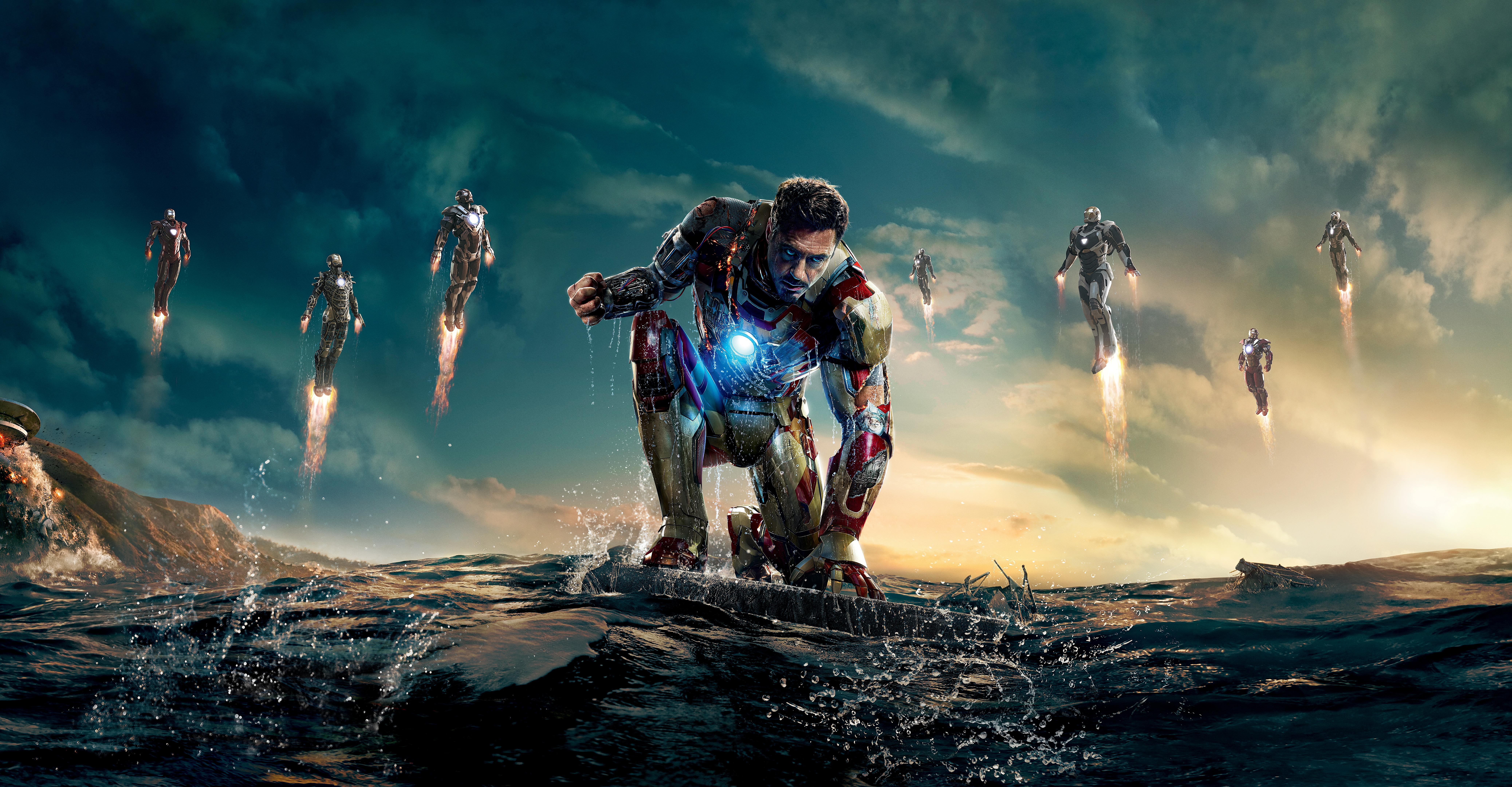 Avengers Iron Man Iron Man 3 Robert Downey Jr Tony Stark 8303x4320