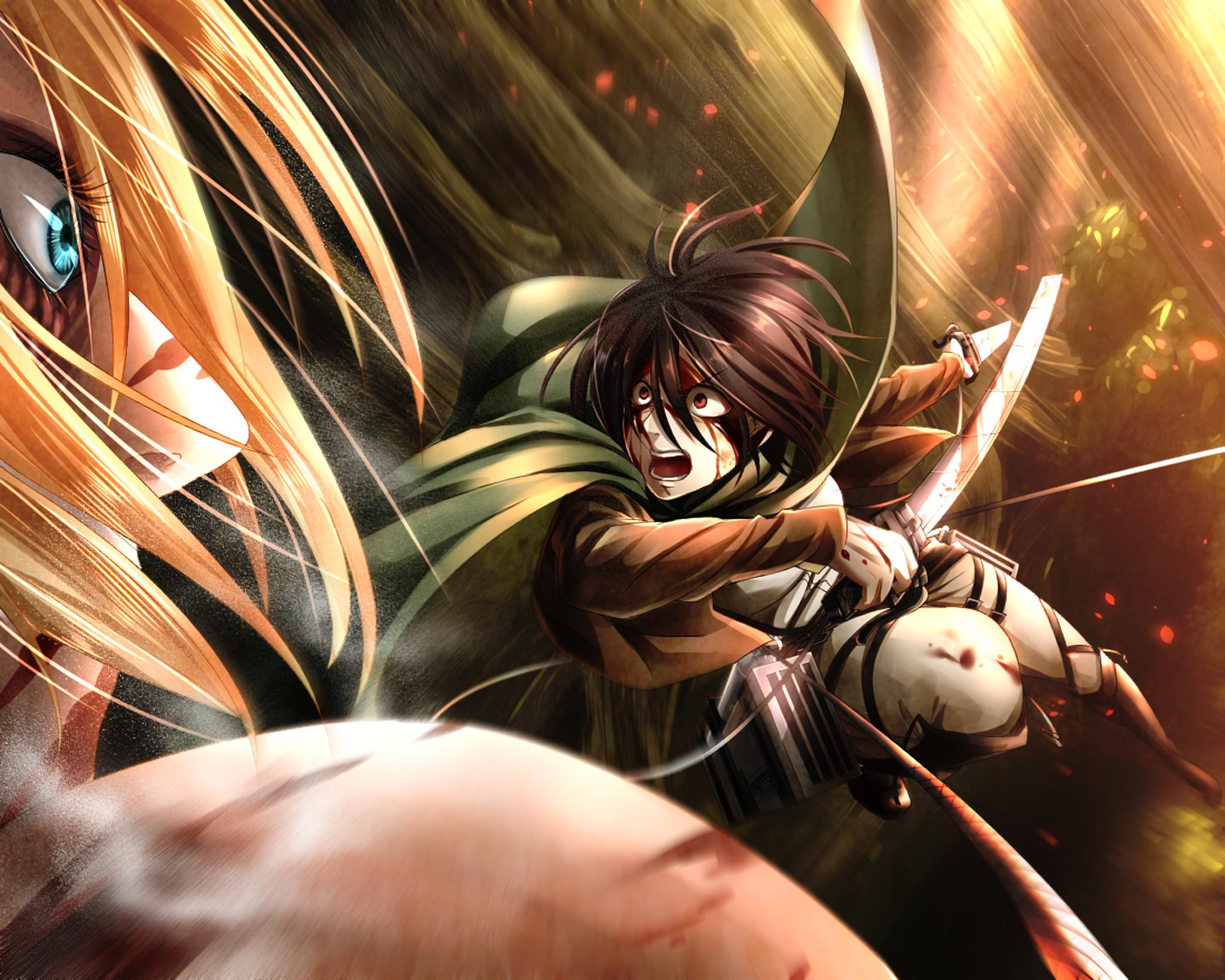 Annie Leonhart Attack On Titan Mikasa Ackerman Wallpaper Resolution 2048x1639 Id 1023457 Wallha Com