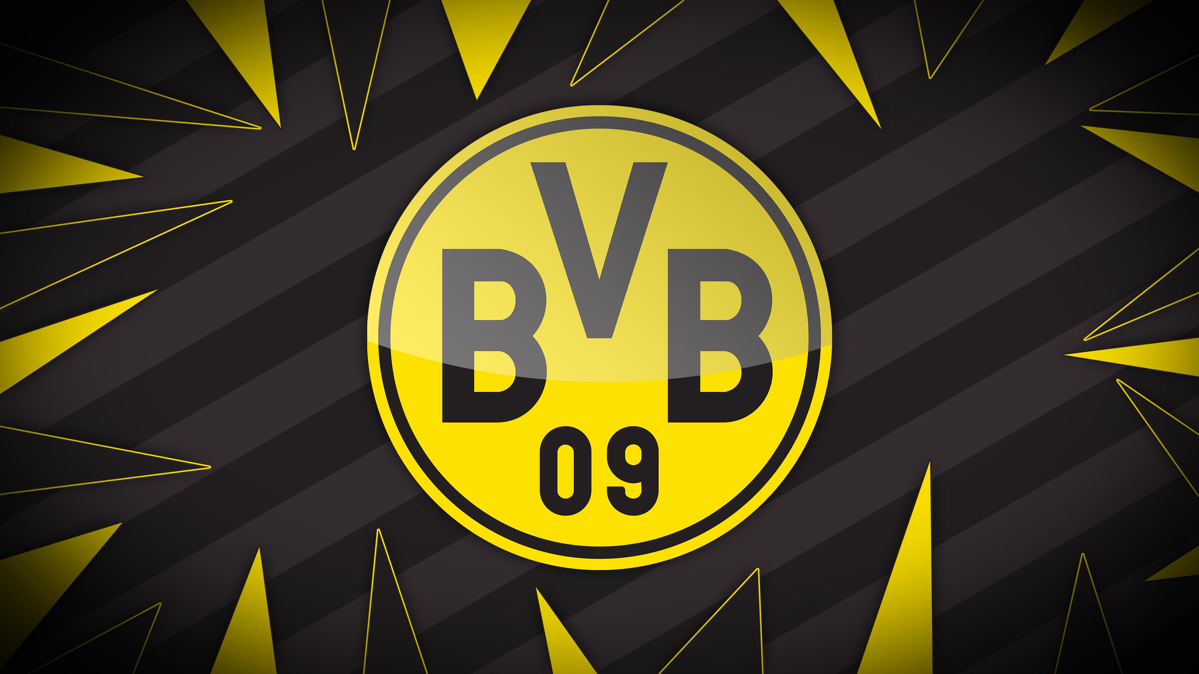 Bvb Borussia Dortmund Emblem Logo Soccer Wallpaper Resolution 3840x2160 Id 1062161 Wallha Com