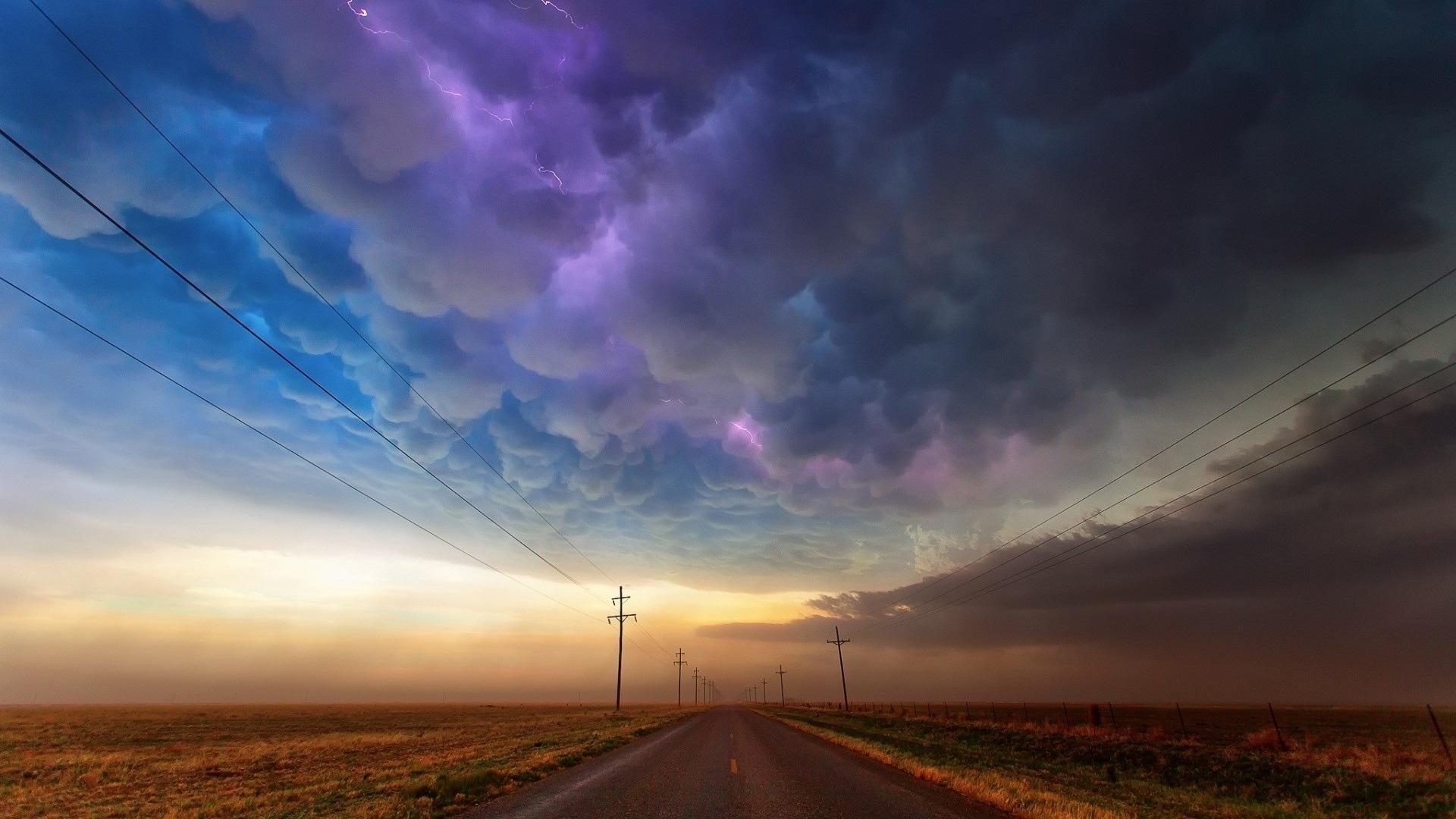 Cloud Nature Road Sky Storm 1920x1080