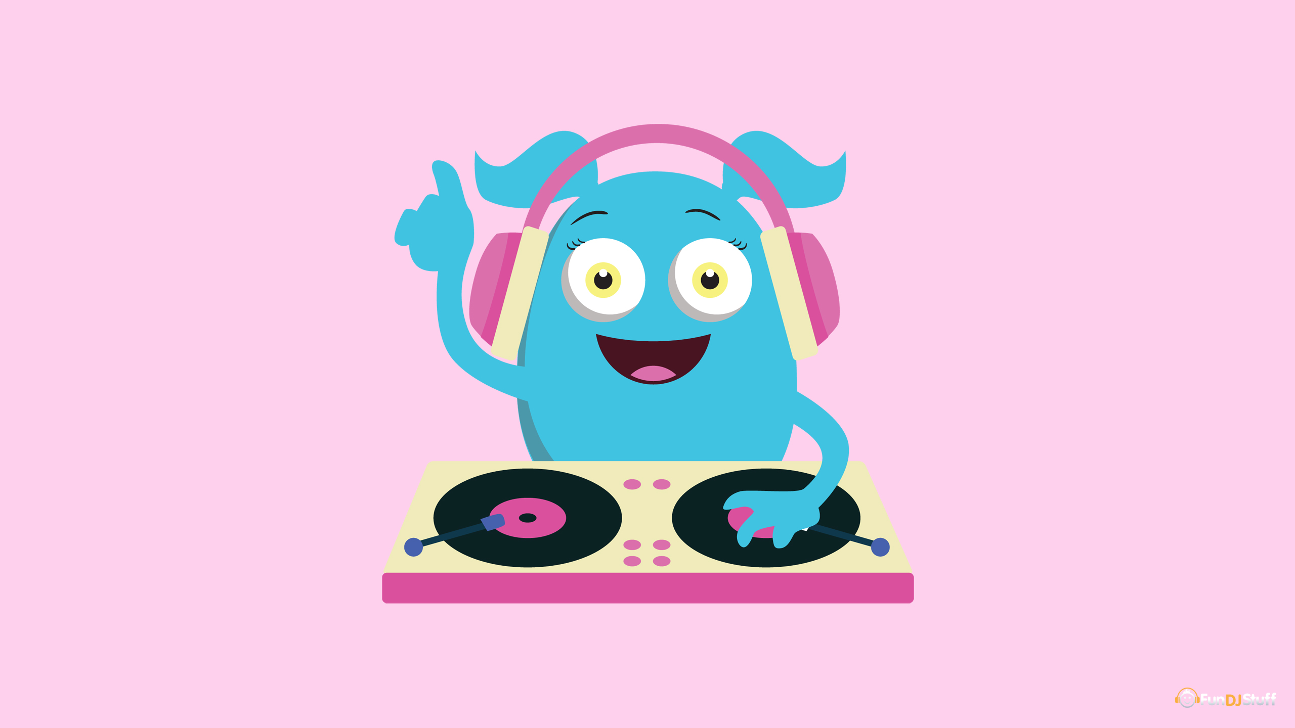 Cute Dj Monster Music 2560x1440