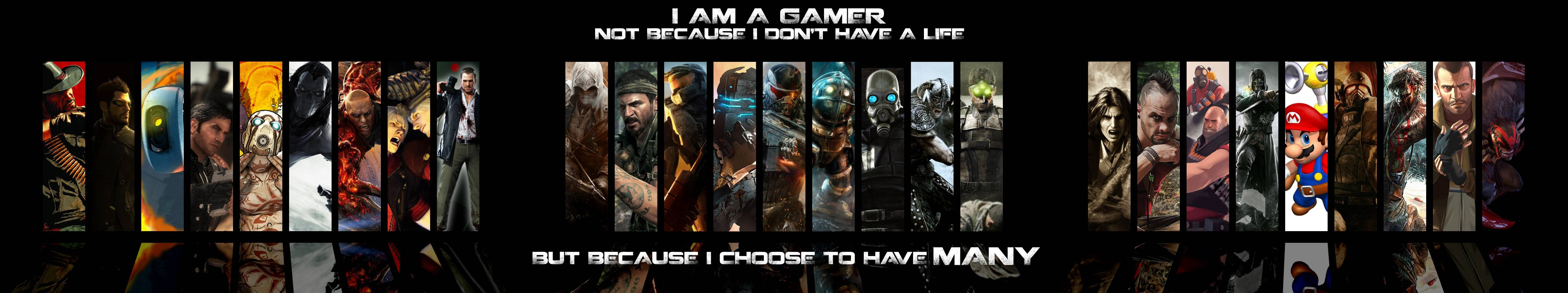 Video Game Collage 5760x1080